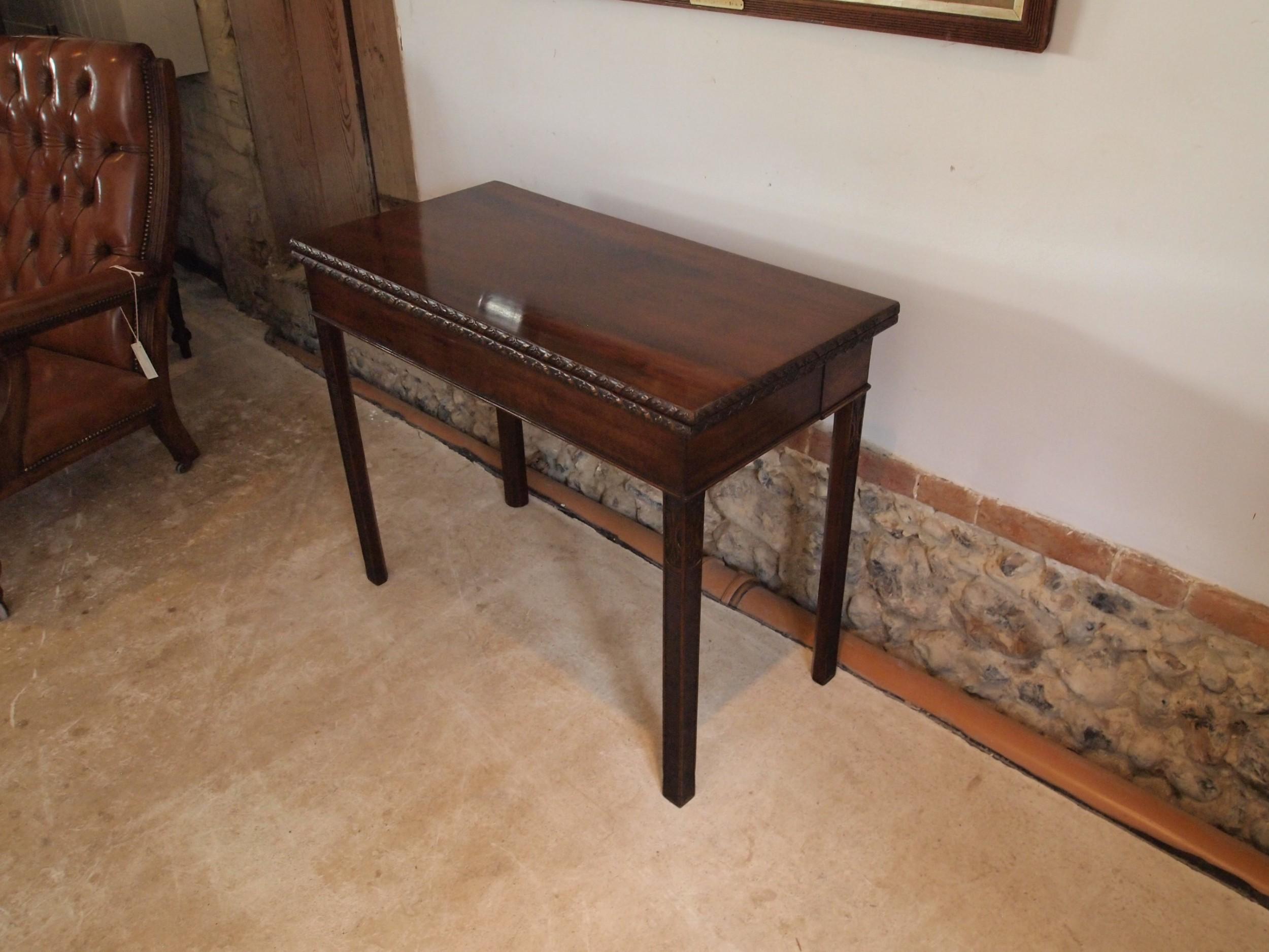 table card hall console lamp george iii mahogany c1800