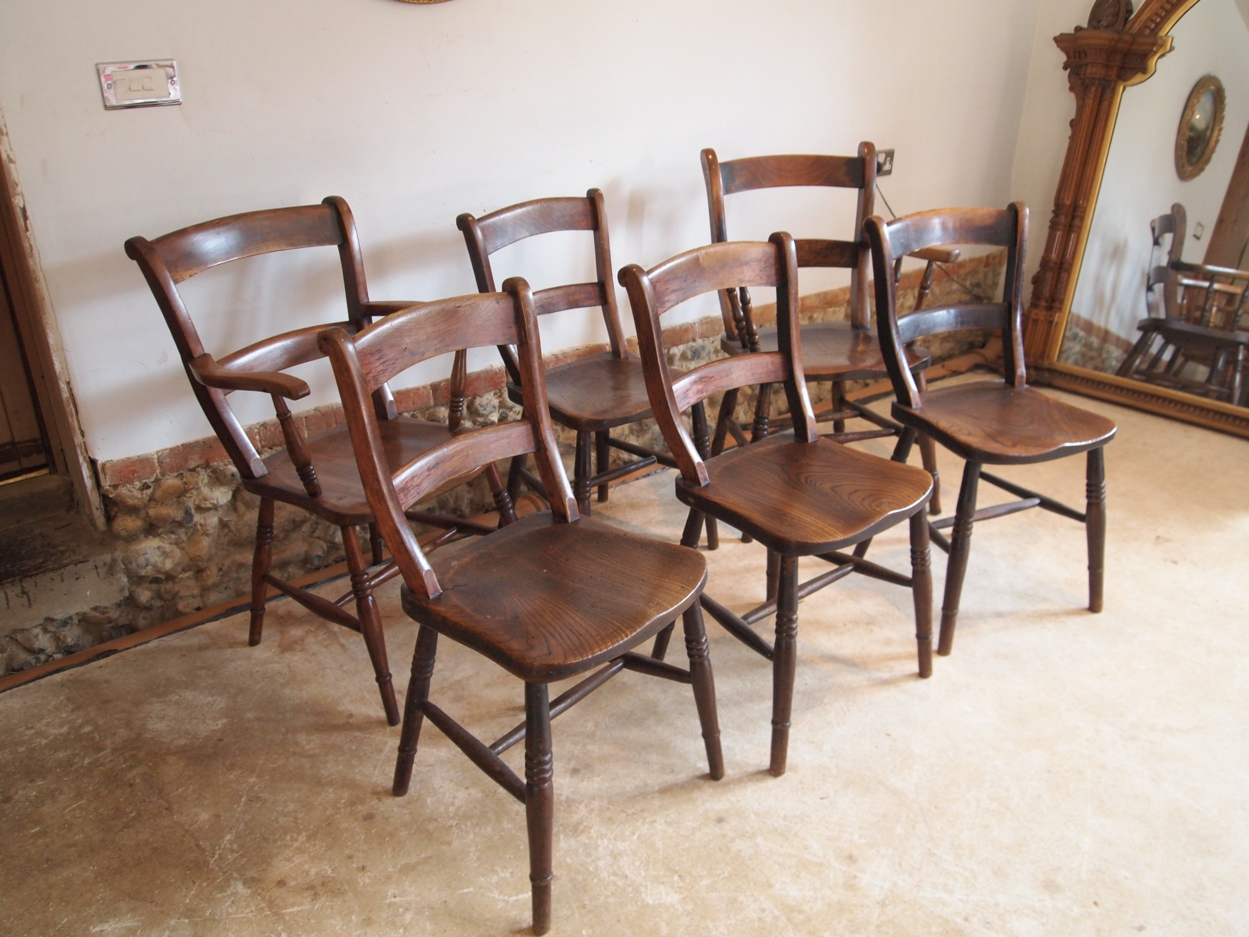 chairs six east anglian victorian bar back dining chairs c1870