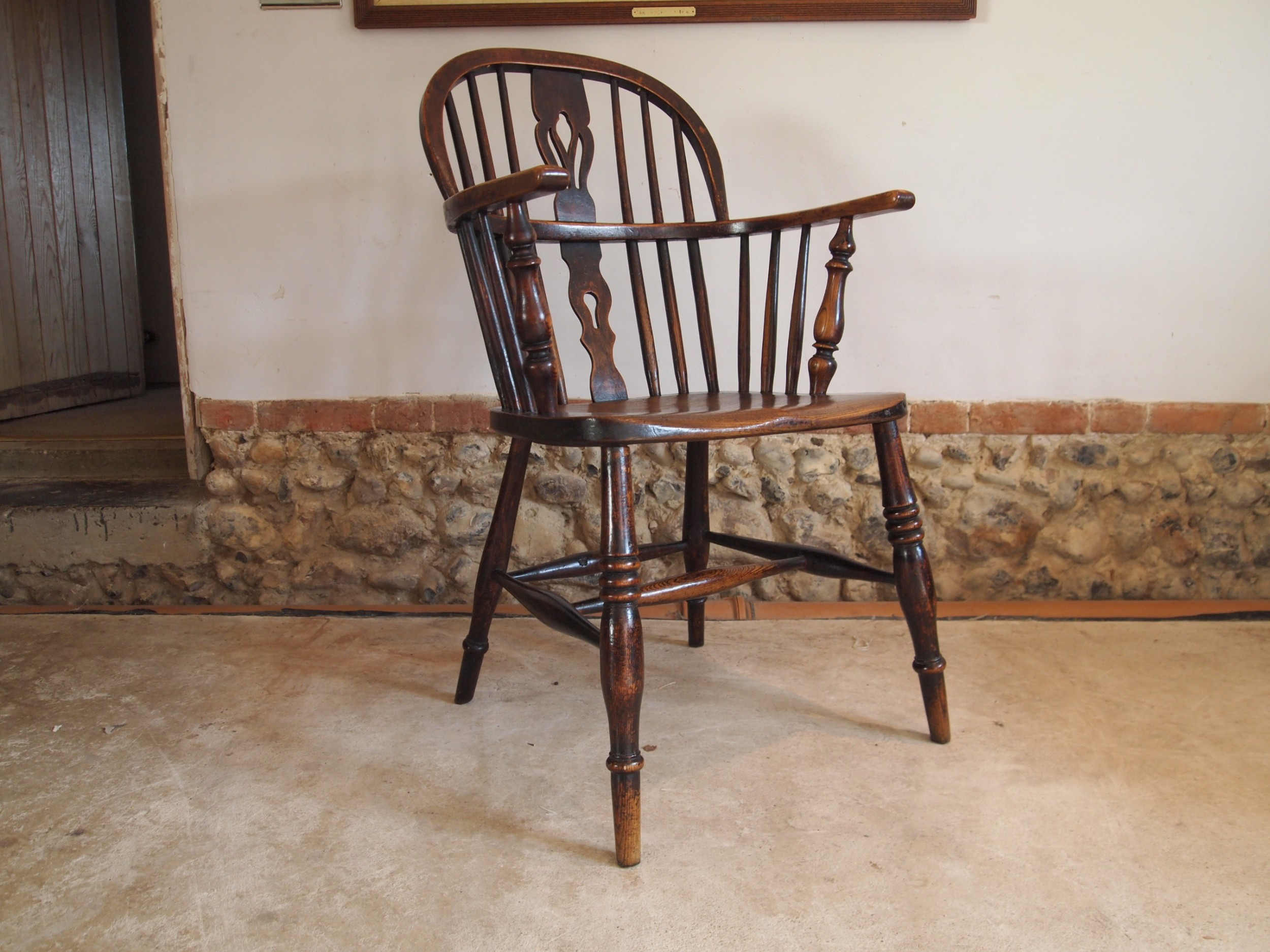 chair windsor ash and elm early victorian lincolnshire c1840