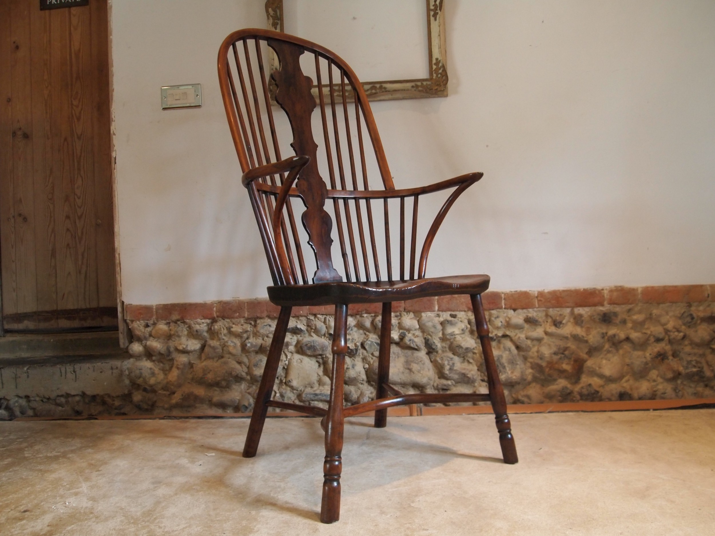 chair rare windsor provincial george iii yew and elm c1790