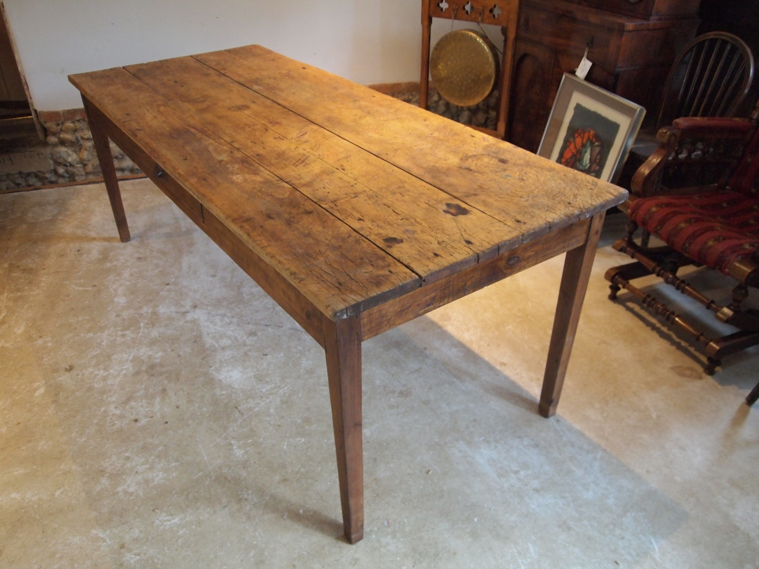 table victorian refectory farmhouse rustic seats 8 c1860