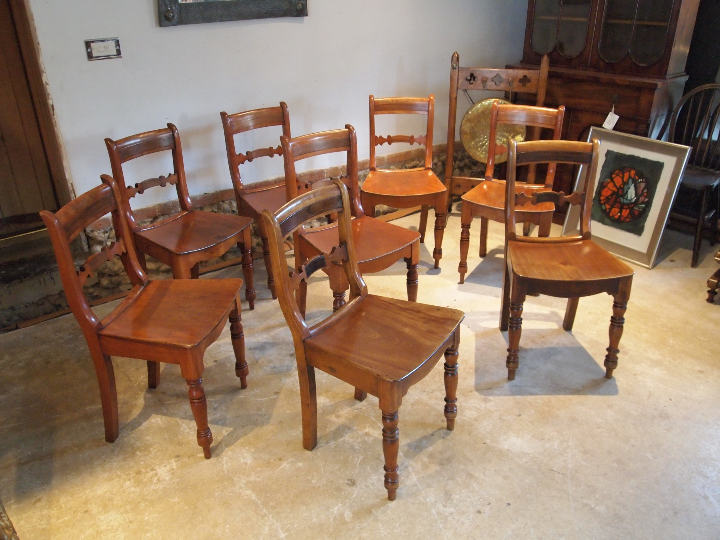 chairs set of 8 essex bar back kitchen c1830