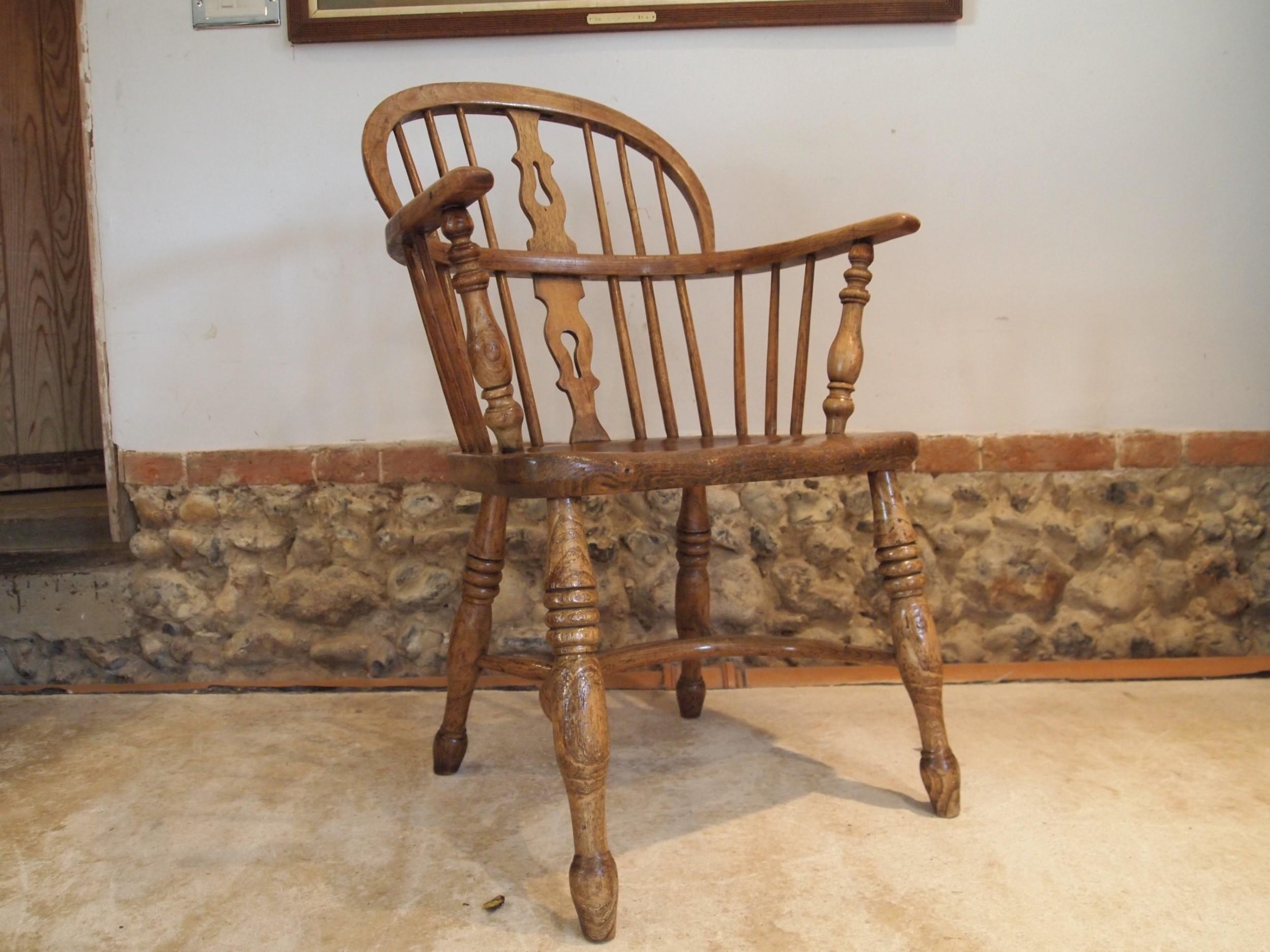 chair george iv windsor ash and elm armchair c1825