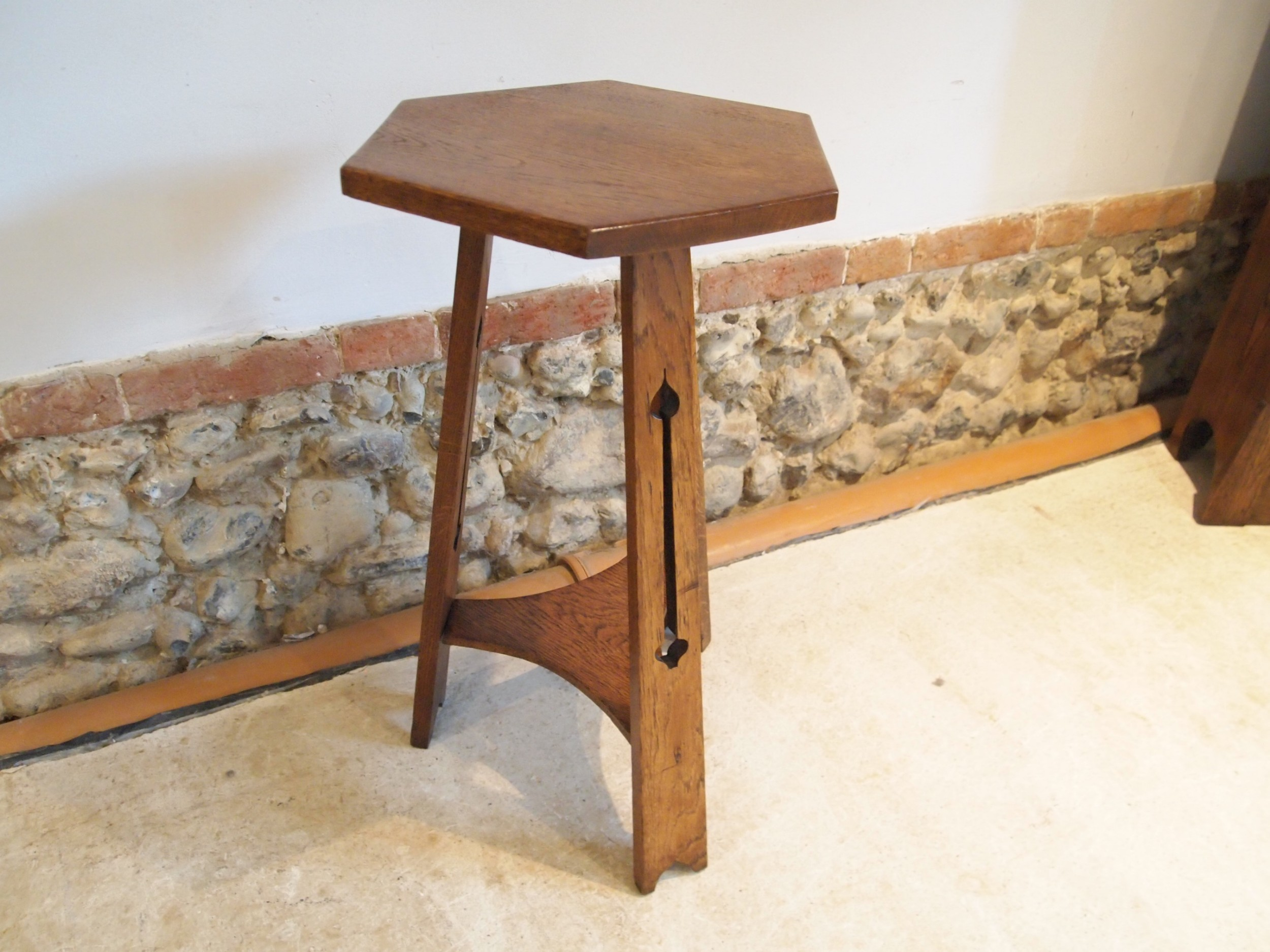 table arts and crafts oak liberty style c1900