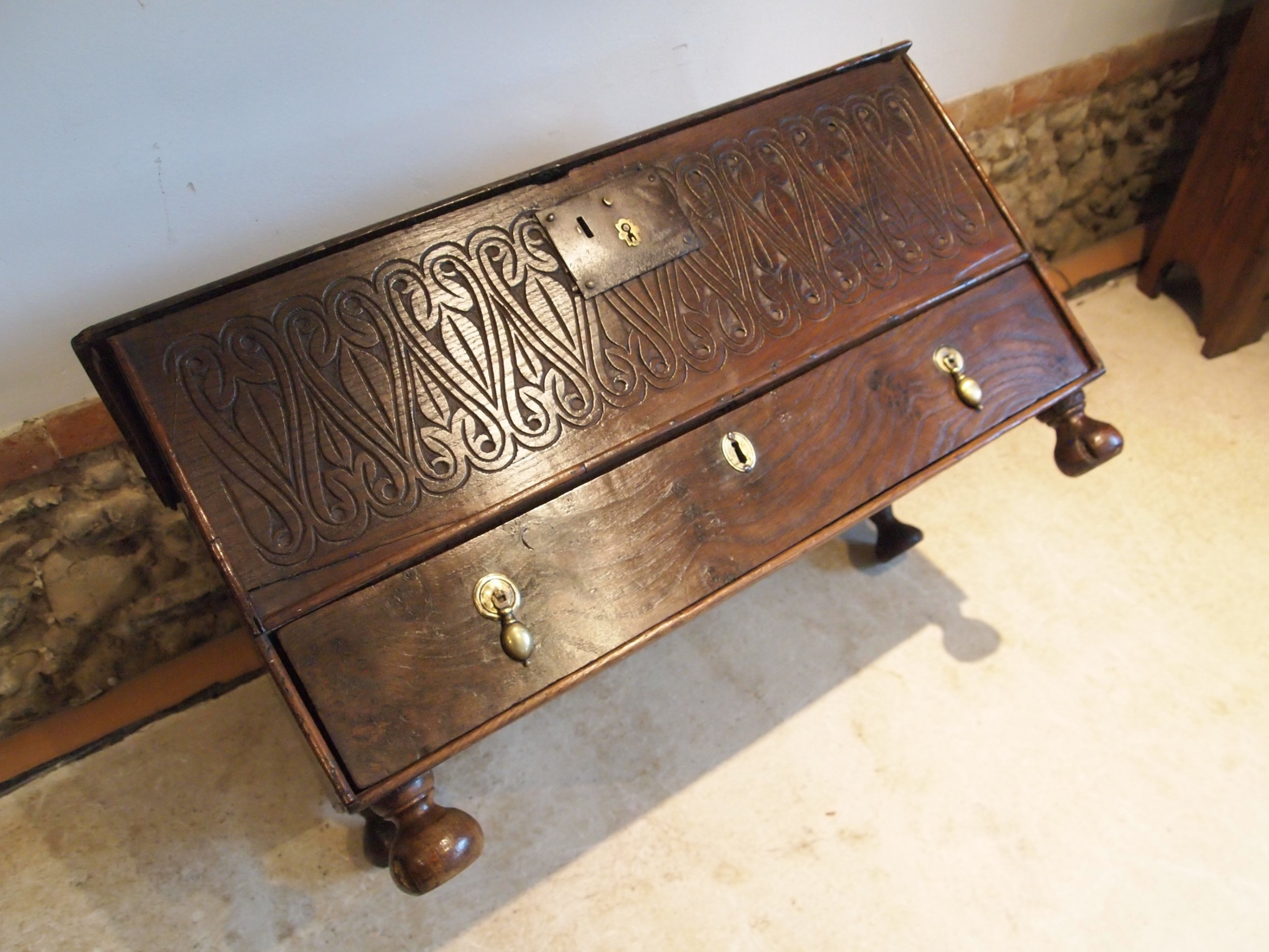 coffer mule chest elm coffer bach william and mary c1690