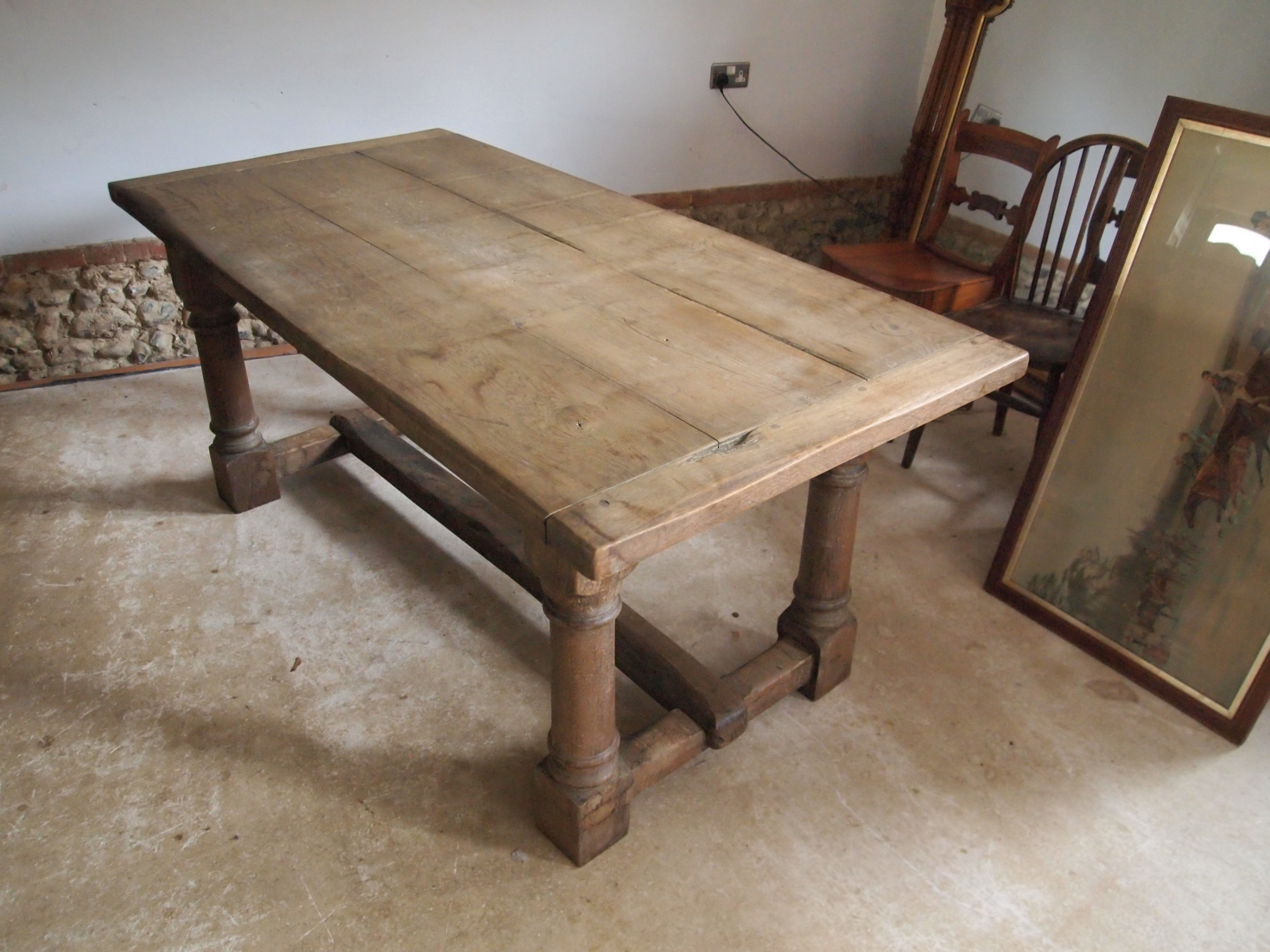 table refectory farmhouse dining rustic oak 68 c1900