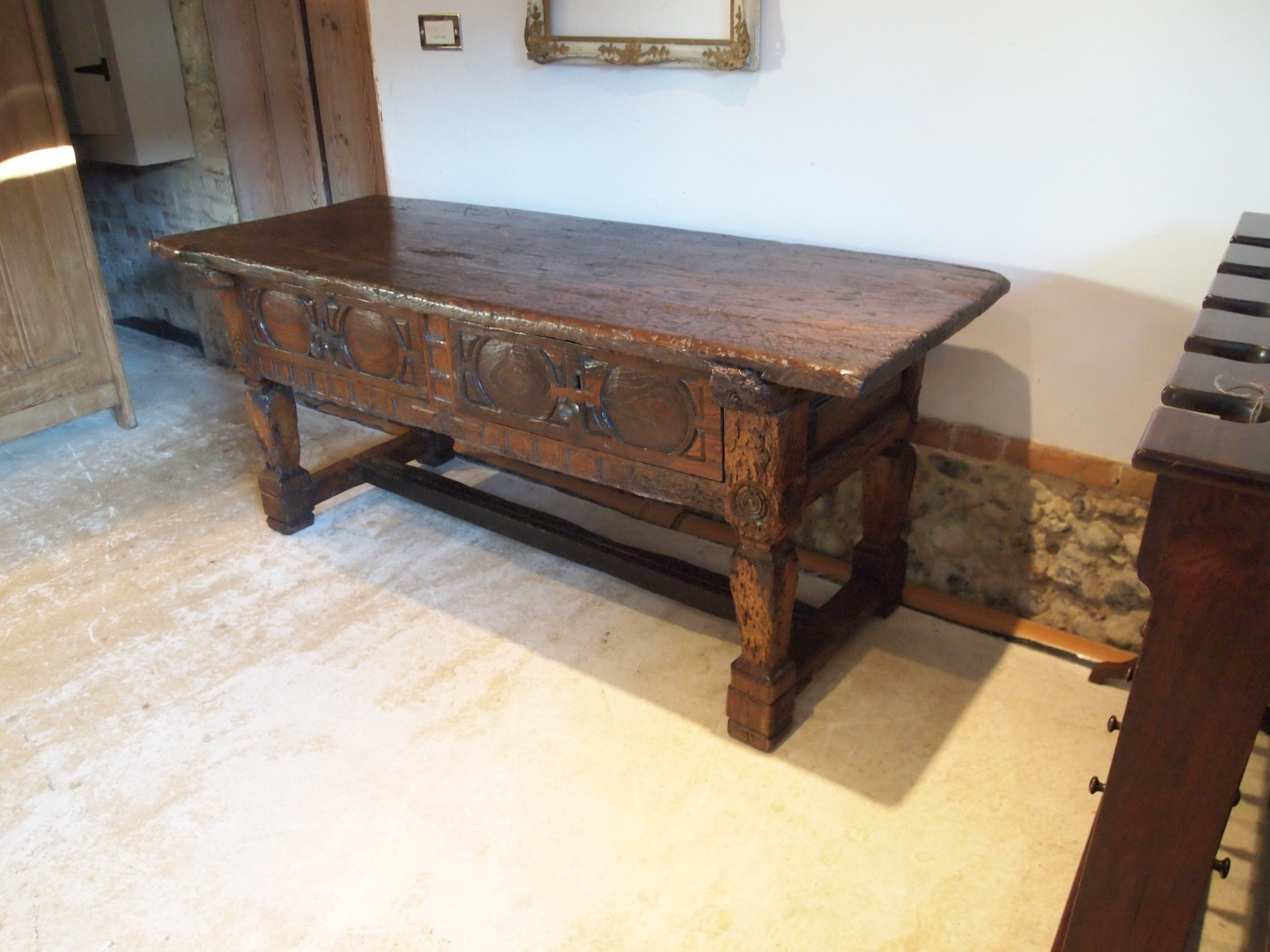 table spanish oak and chestnut dresser 17th century c1650