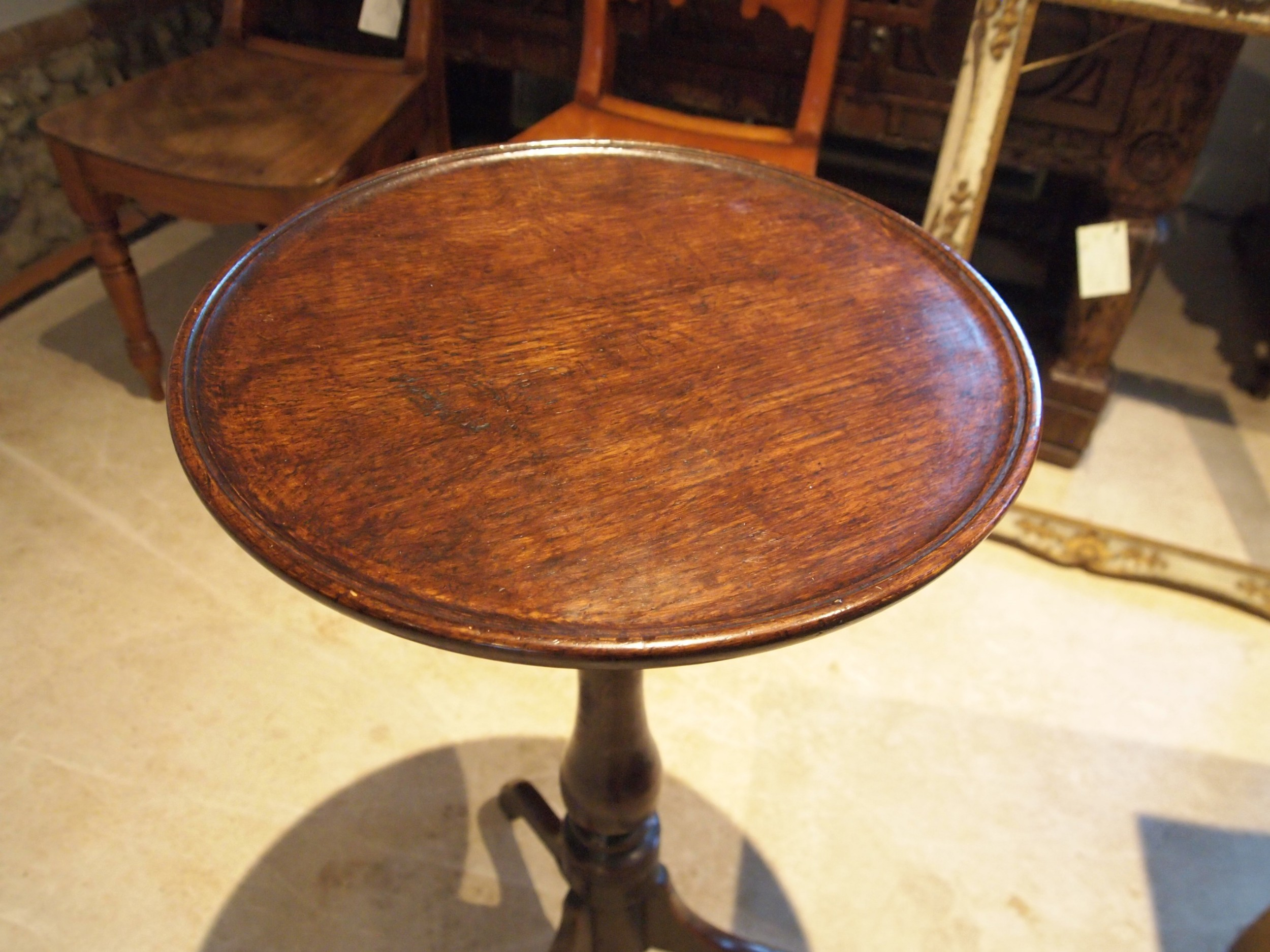 table stunning george iii oak side wine hall tilt top c1770