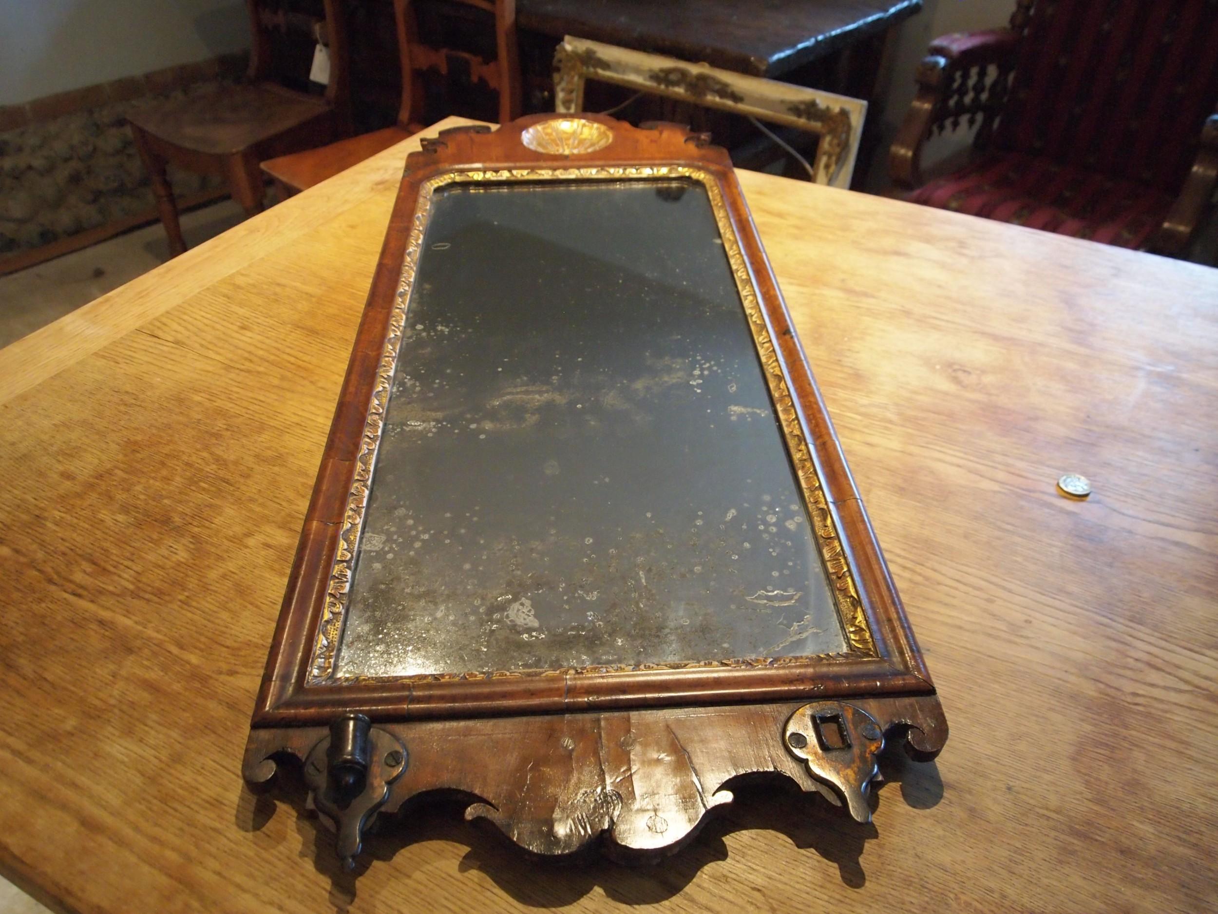 mirror george ii walnut c1740