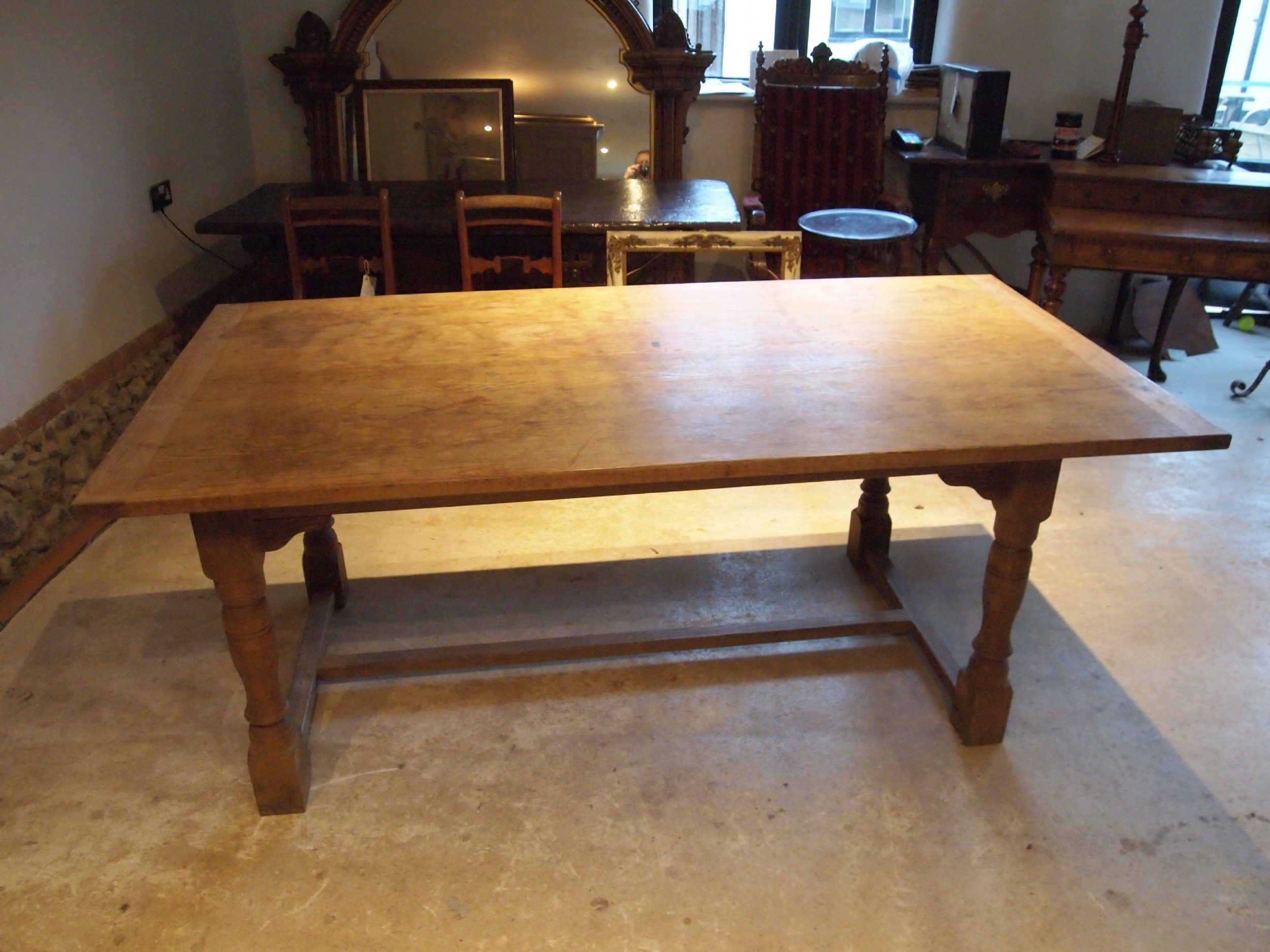 table oak refectory farmhouse dining rustic c1920