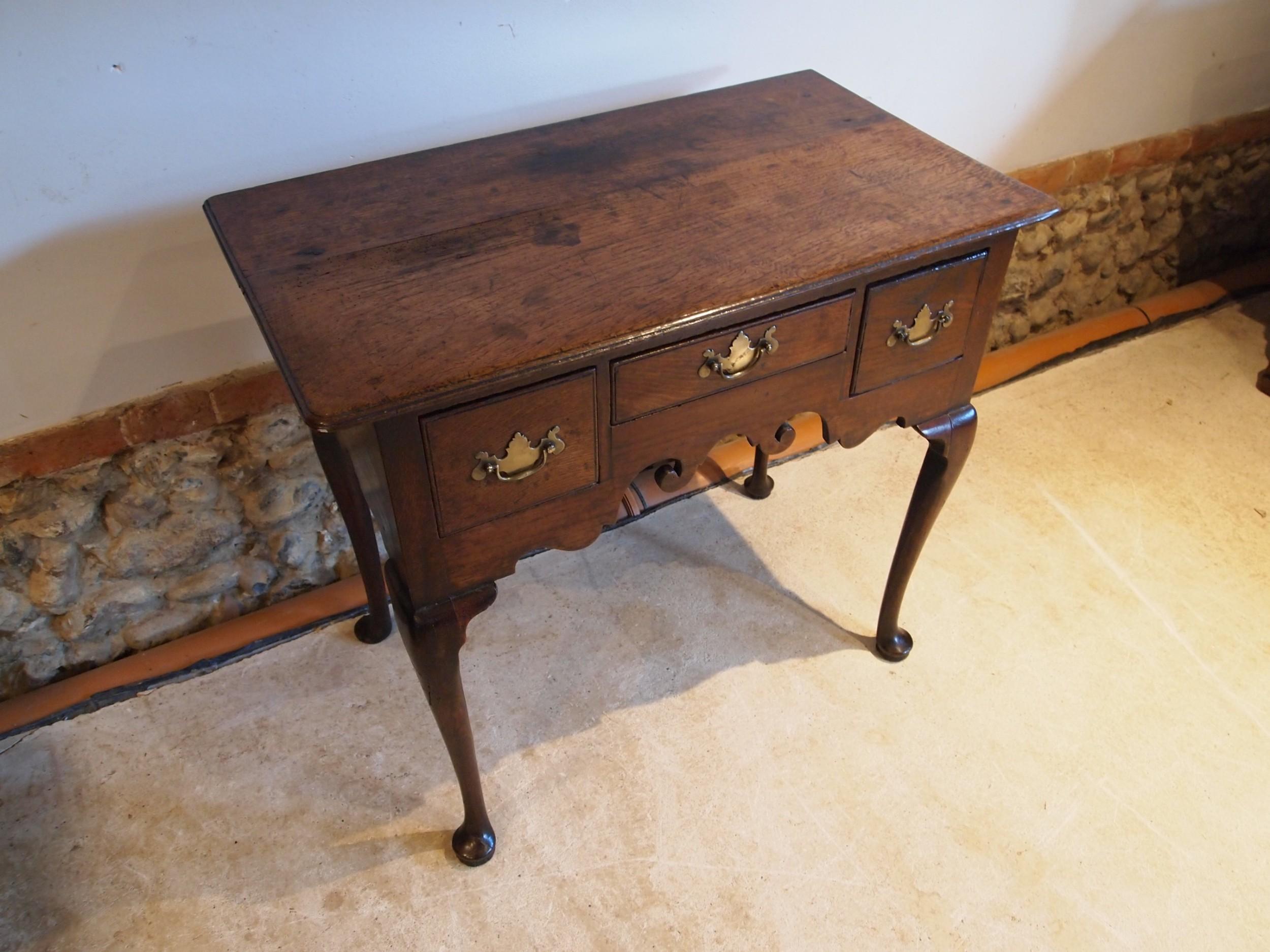 table lowboy george ii oak c1760