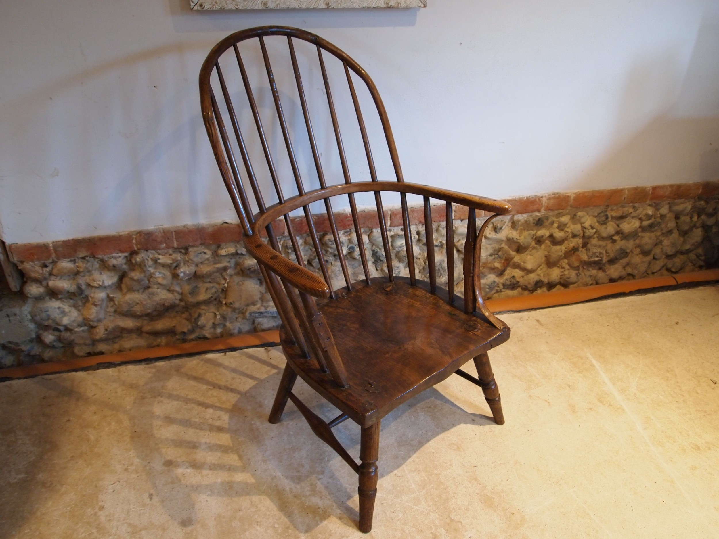 chair stunning rare george iii windsor west country yew ash elm c1780