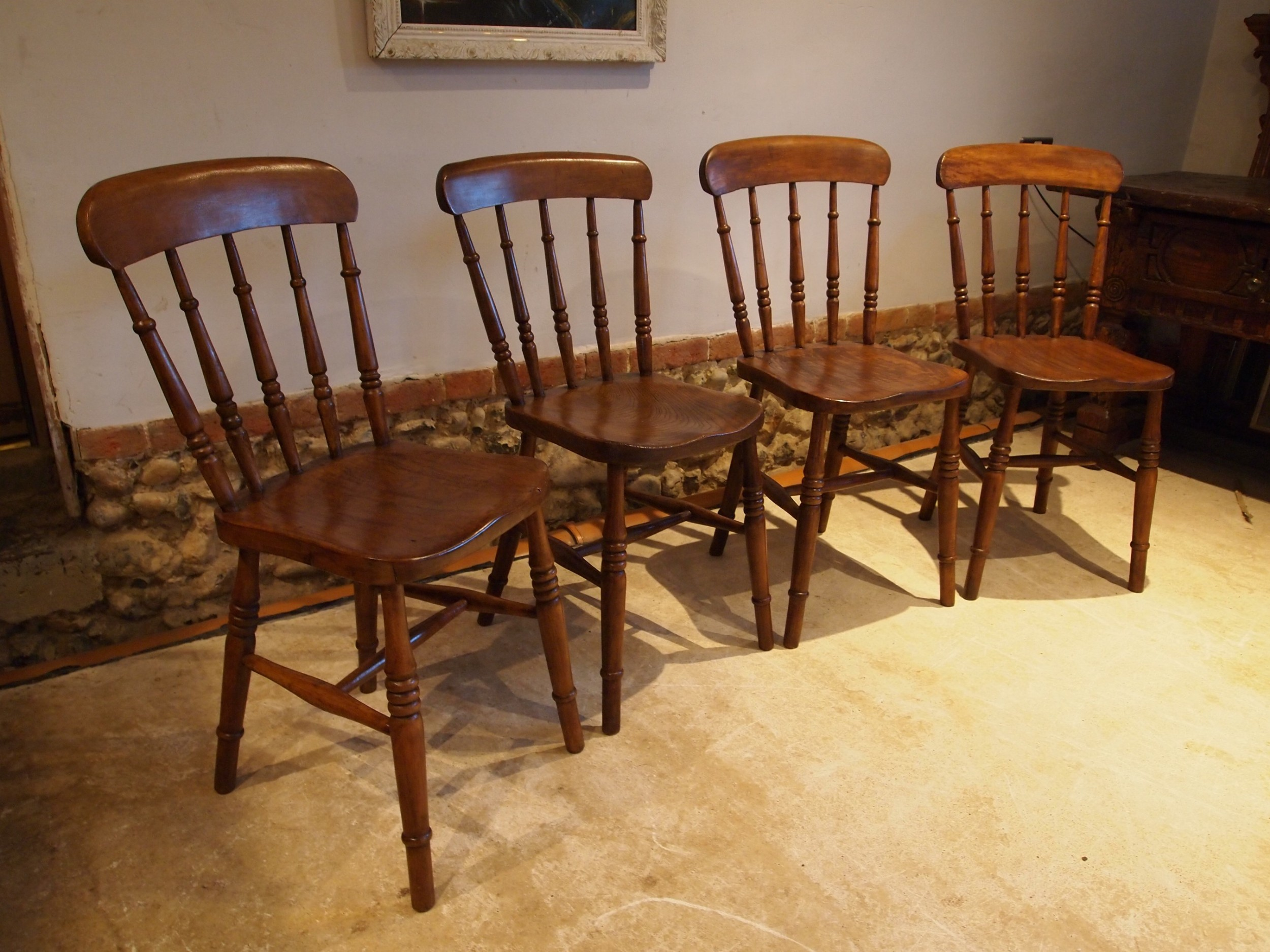 chairs set of 4 victorian windsor kitchen chairs c1880