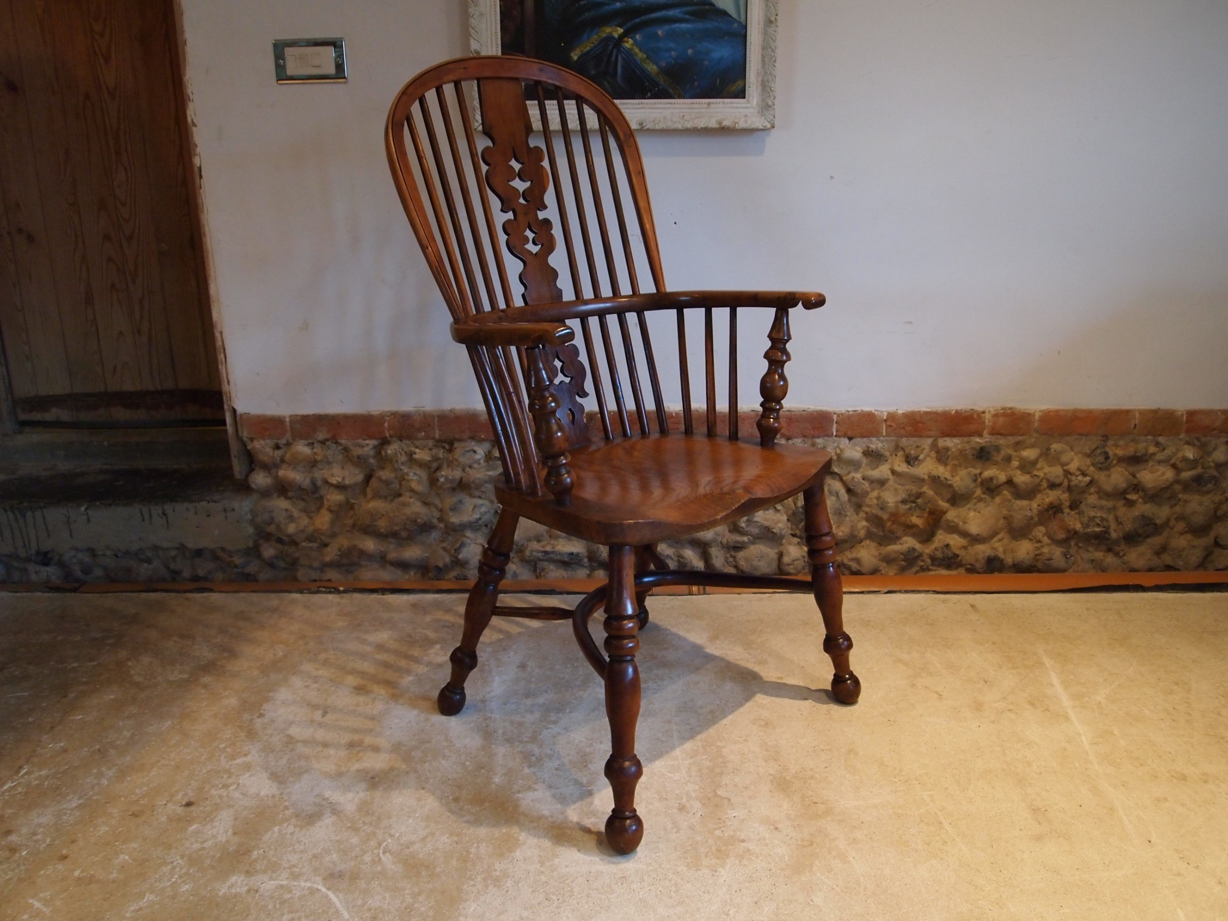 chair victorian elm and yew windsor armchair c1840