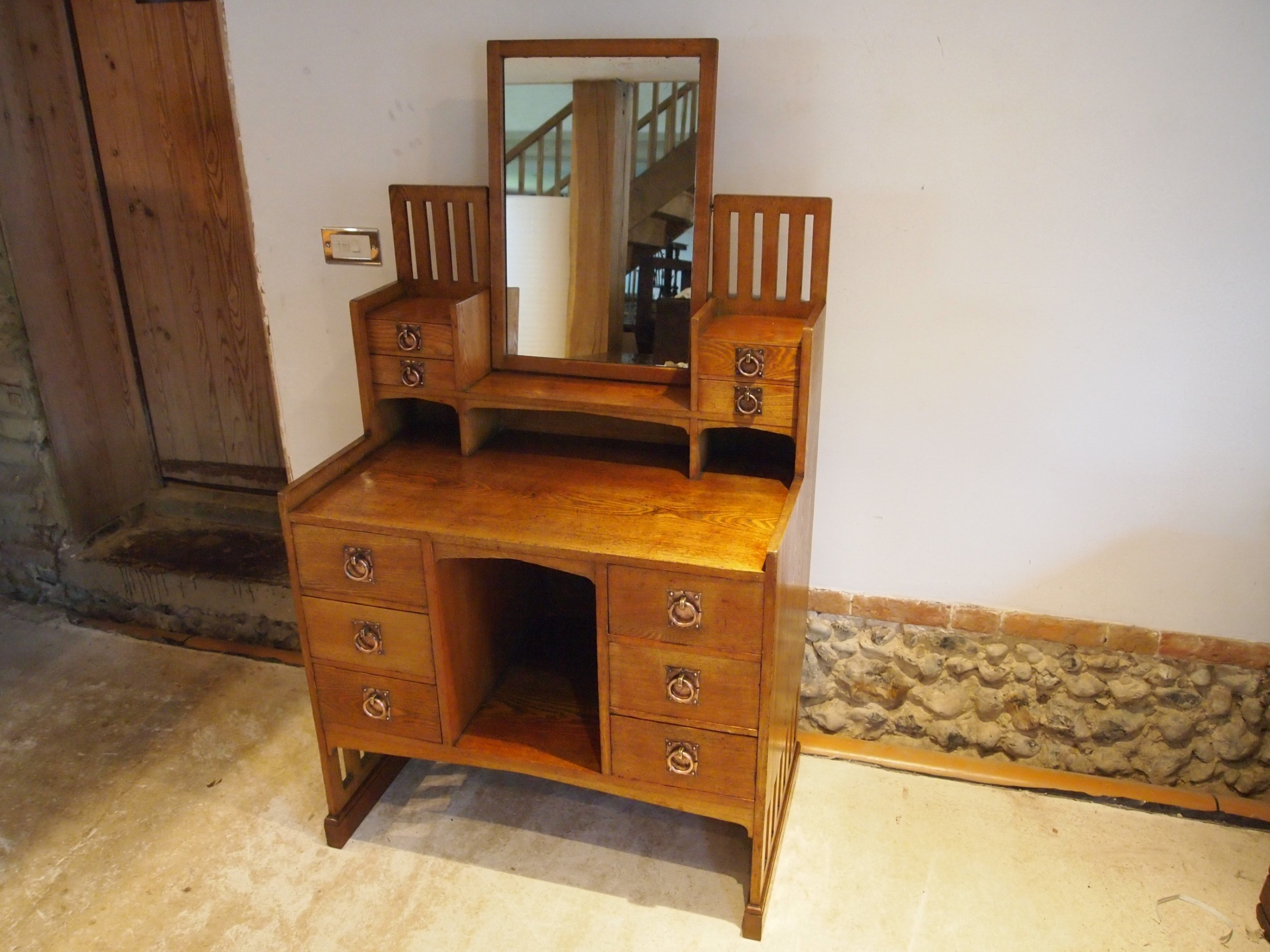 dressing table rare arts and crafts liberty co ash c1900