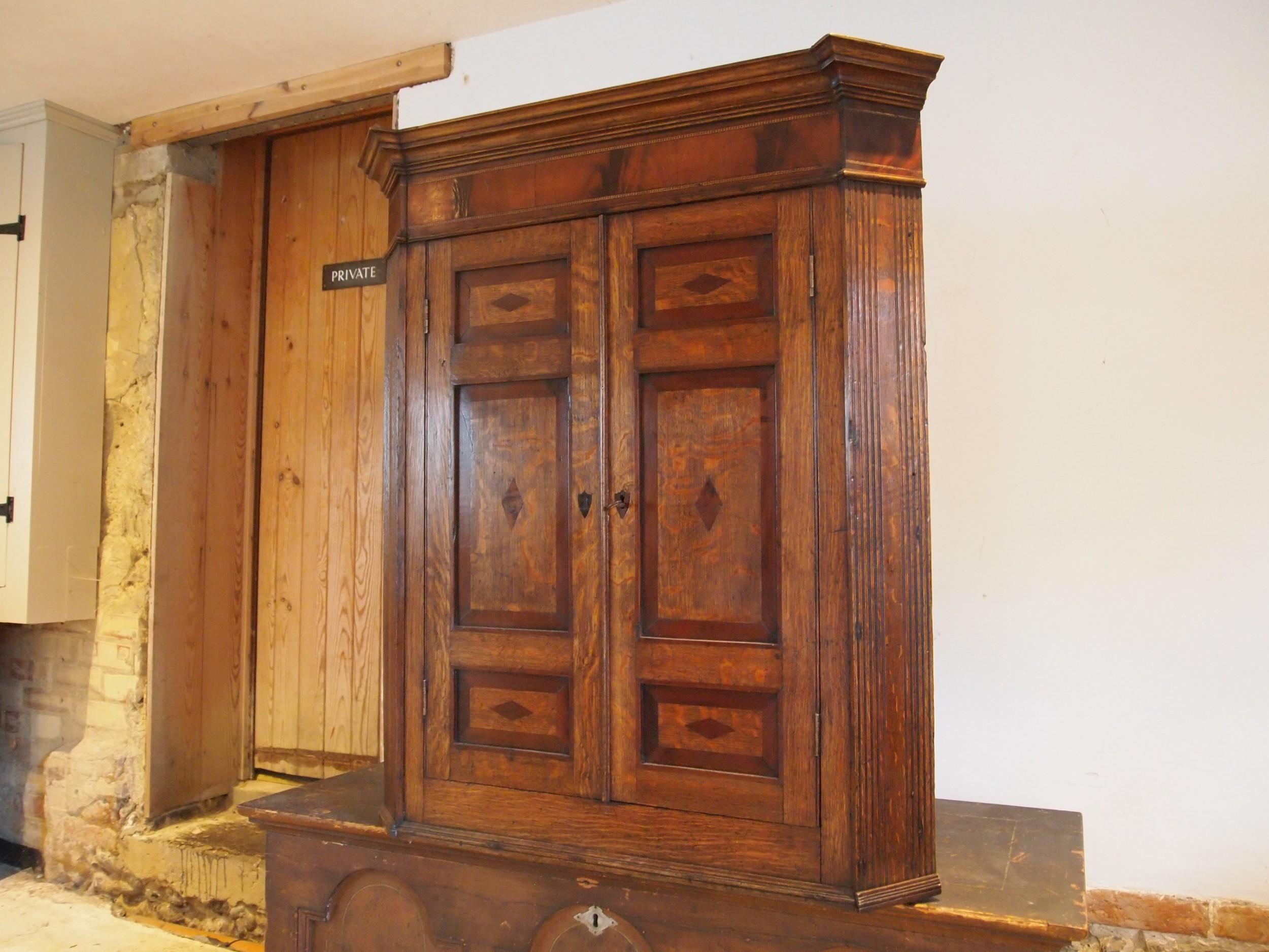 cupboard corner fine quality george iii oak and mahogany c1780