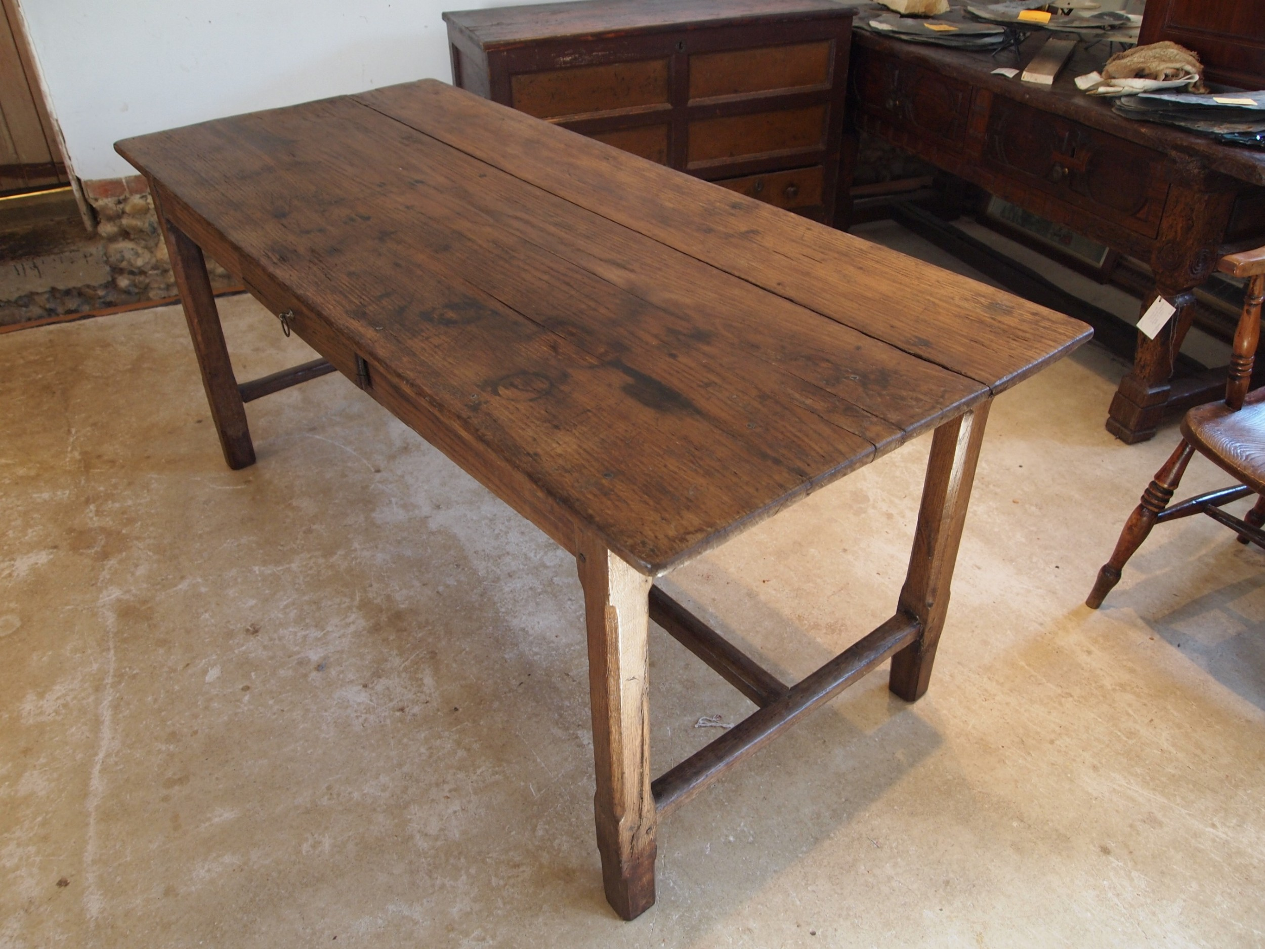 table french oak refectory farmhouse dining c1800