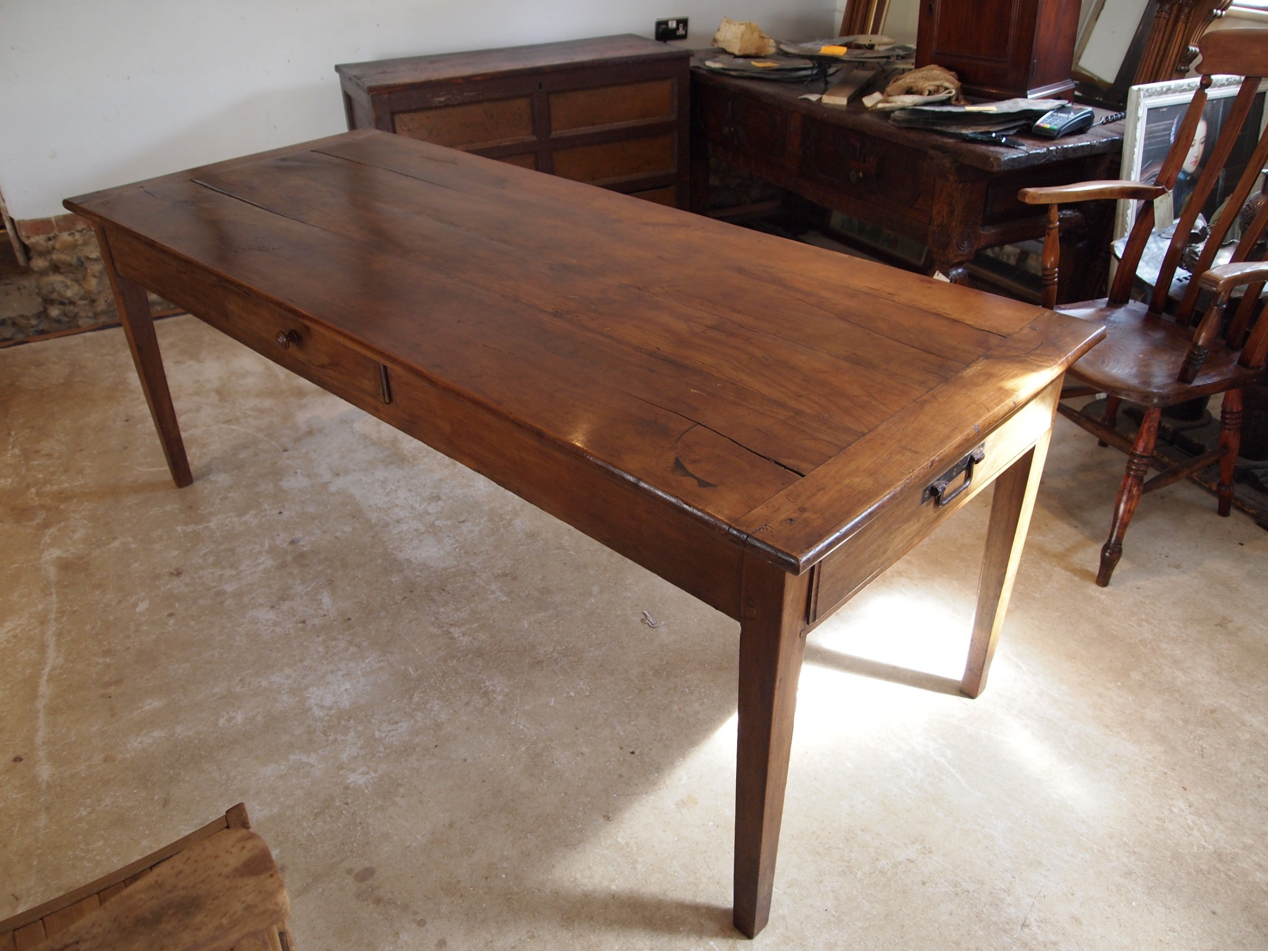 table french cherry wood refectory farmhouse dining c1860