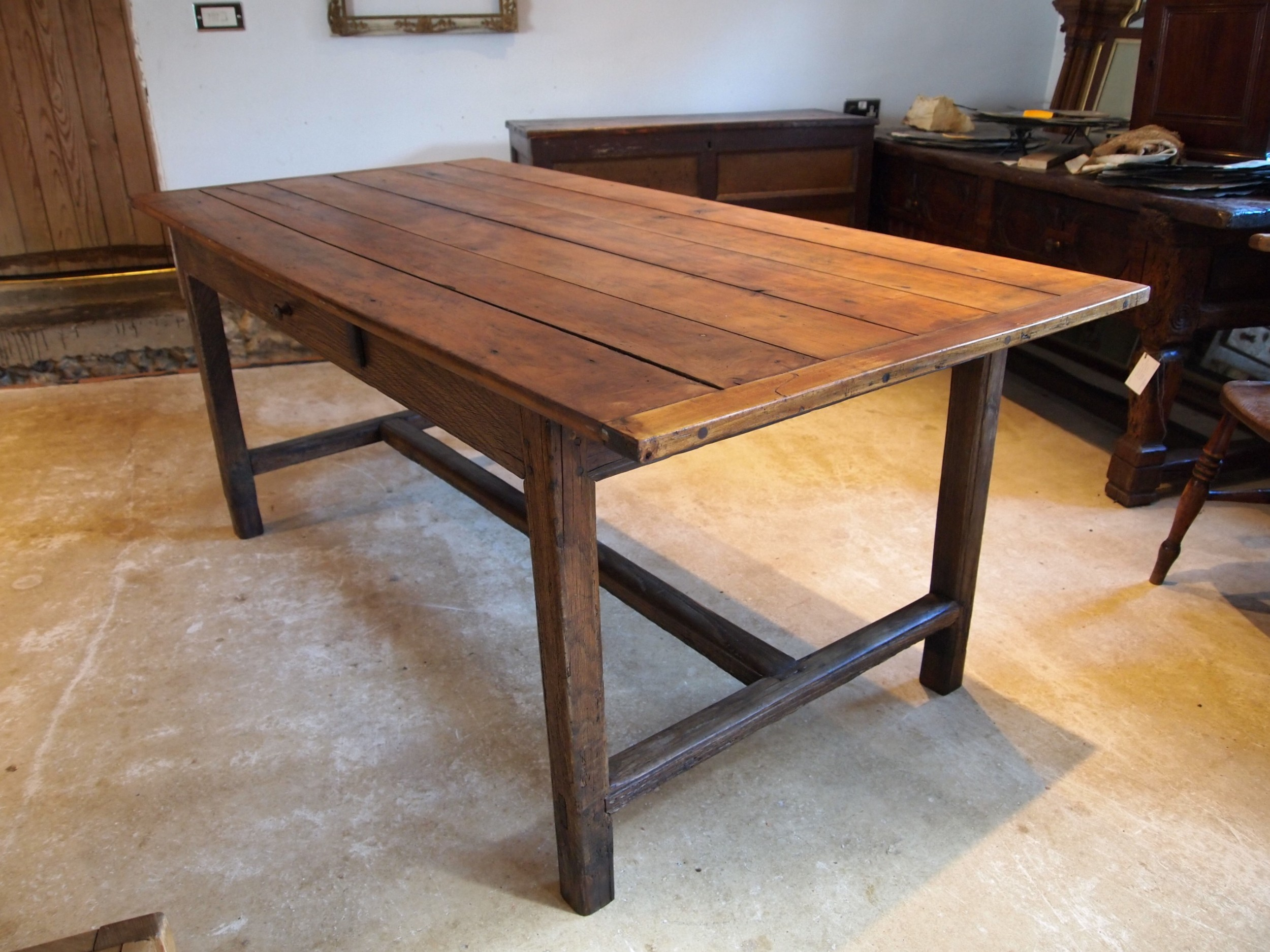 table refectory dining farmhouse french cherry and chestnut c1800