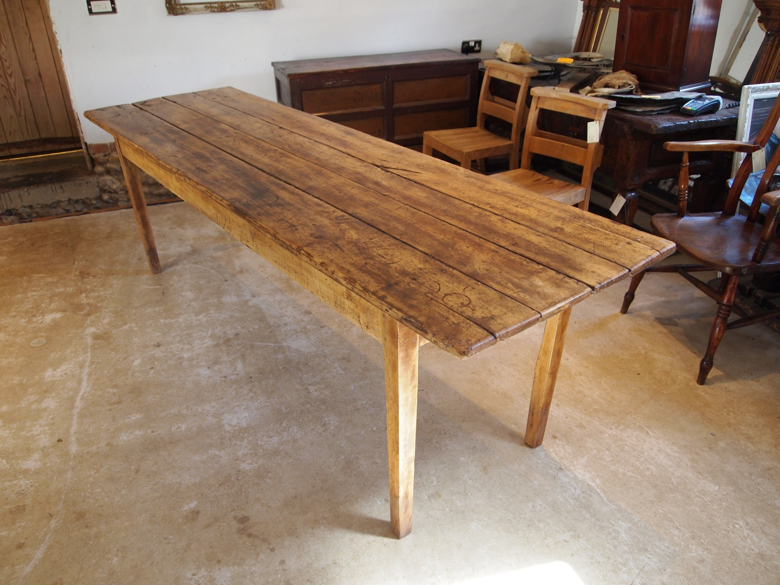 table refectory dining farmhouse french apple c1820