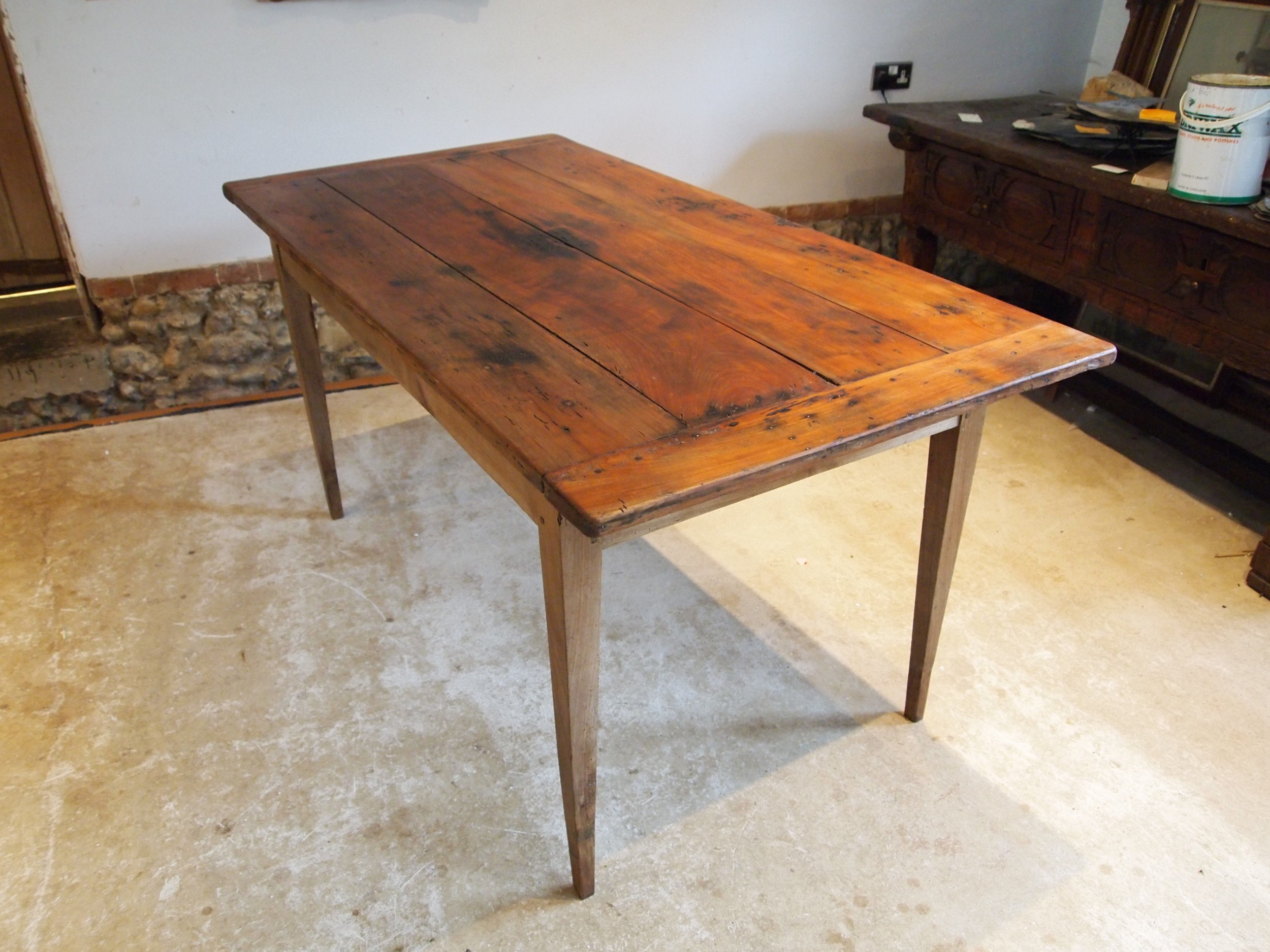table french refectory dining farmhouse cherry wood c1830