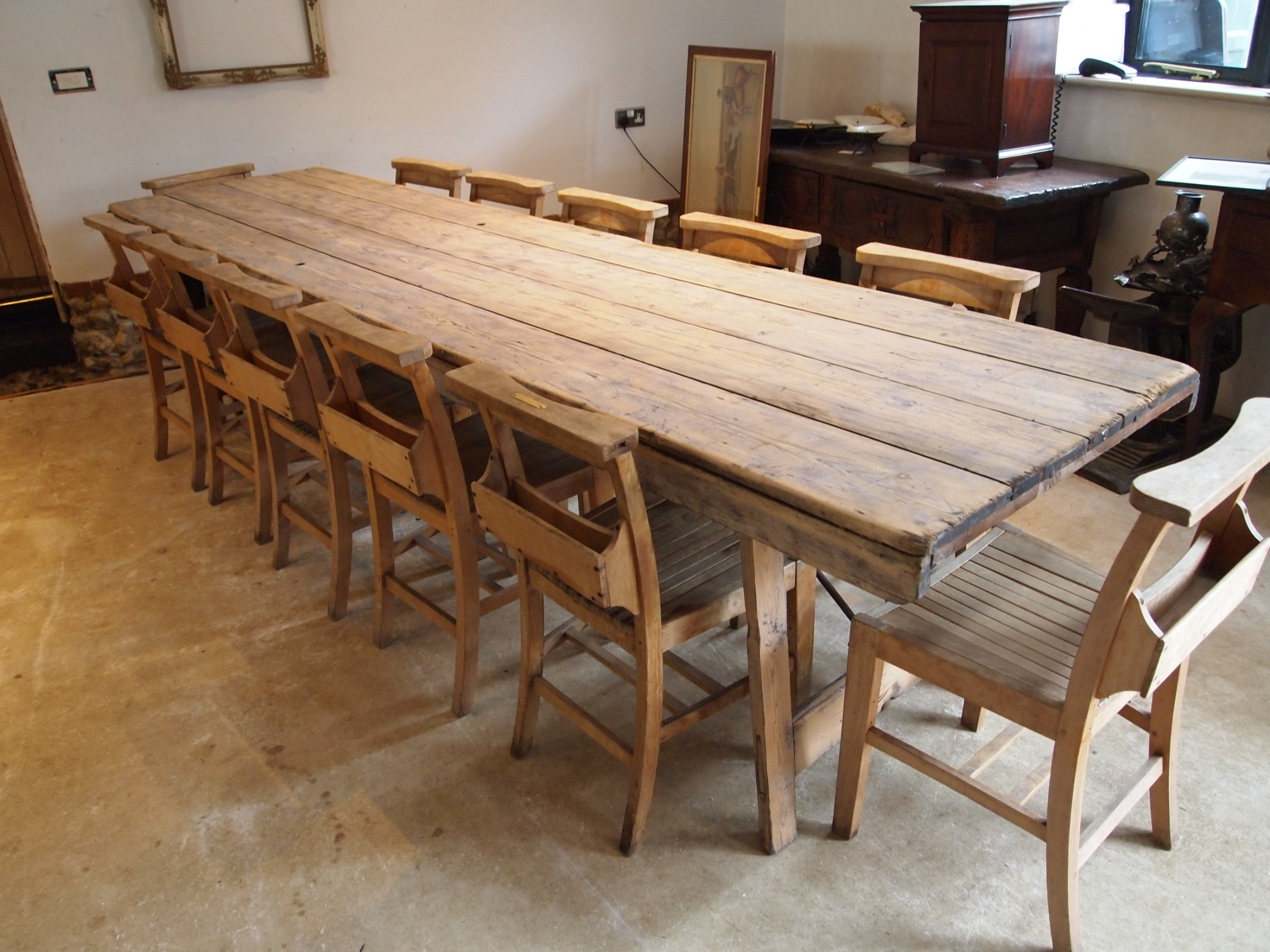 table stunning french harvest refectory dining farmhouse c1890