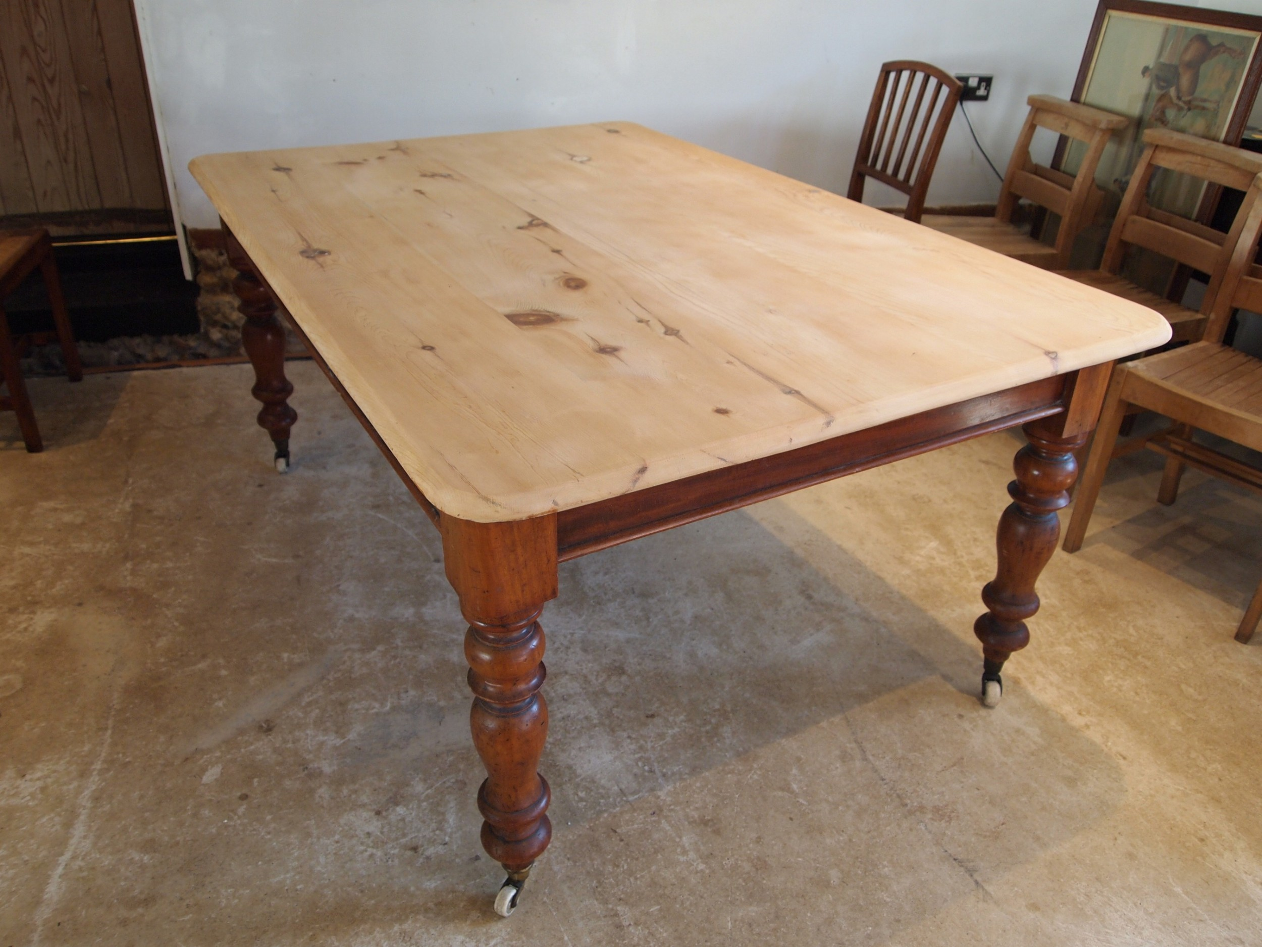 table victorian refectory farmhouse scrub top dining table c1880
