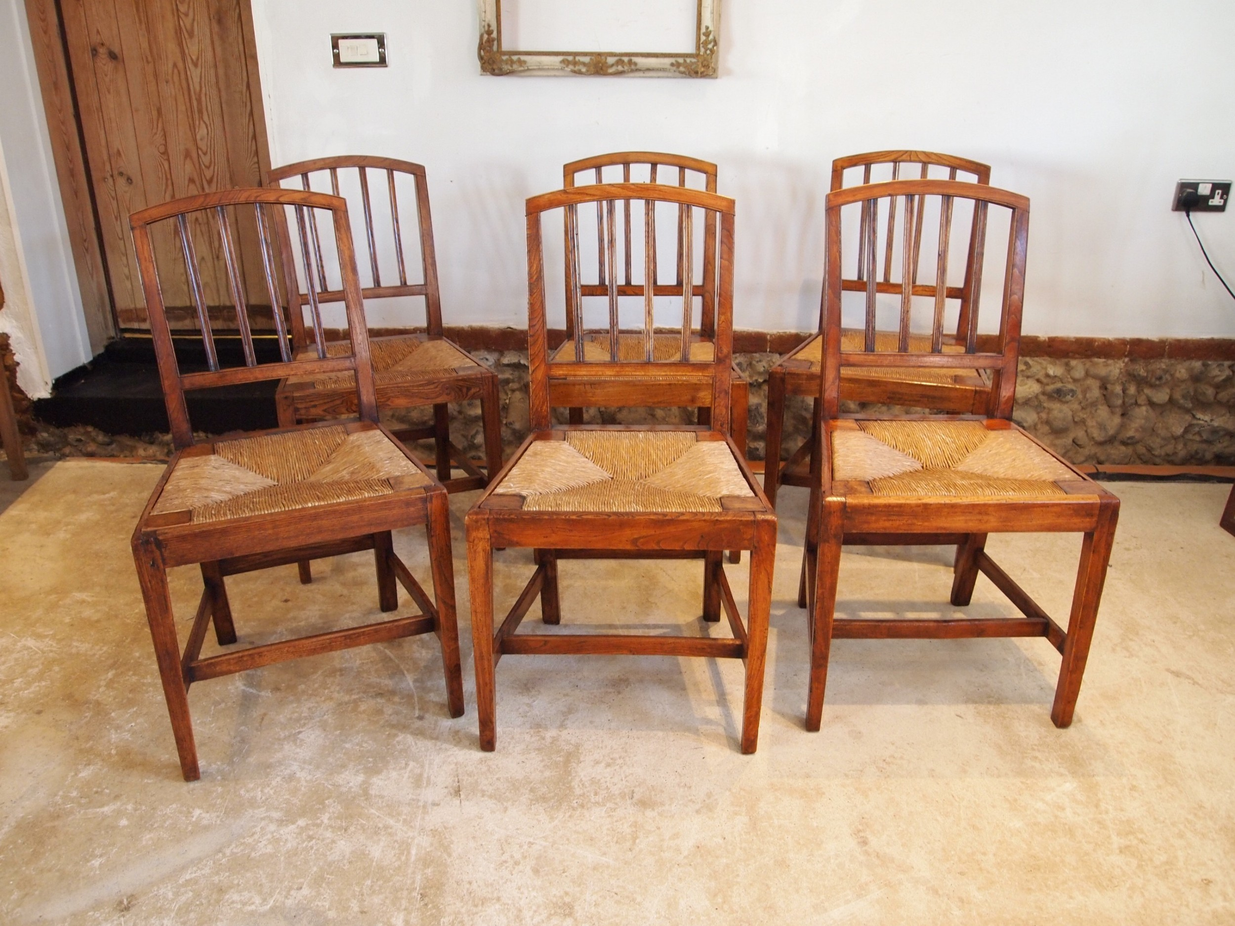 chairs outstanding set of 6 elm dining chairs kitchen george iv c1820