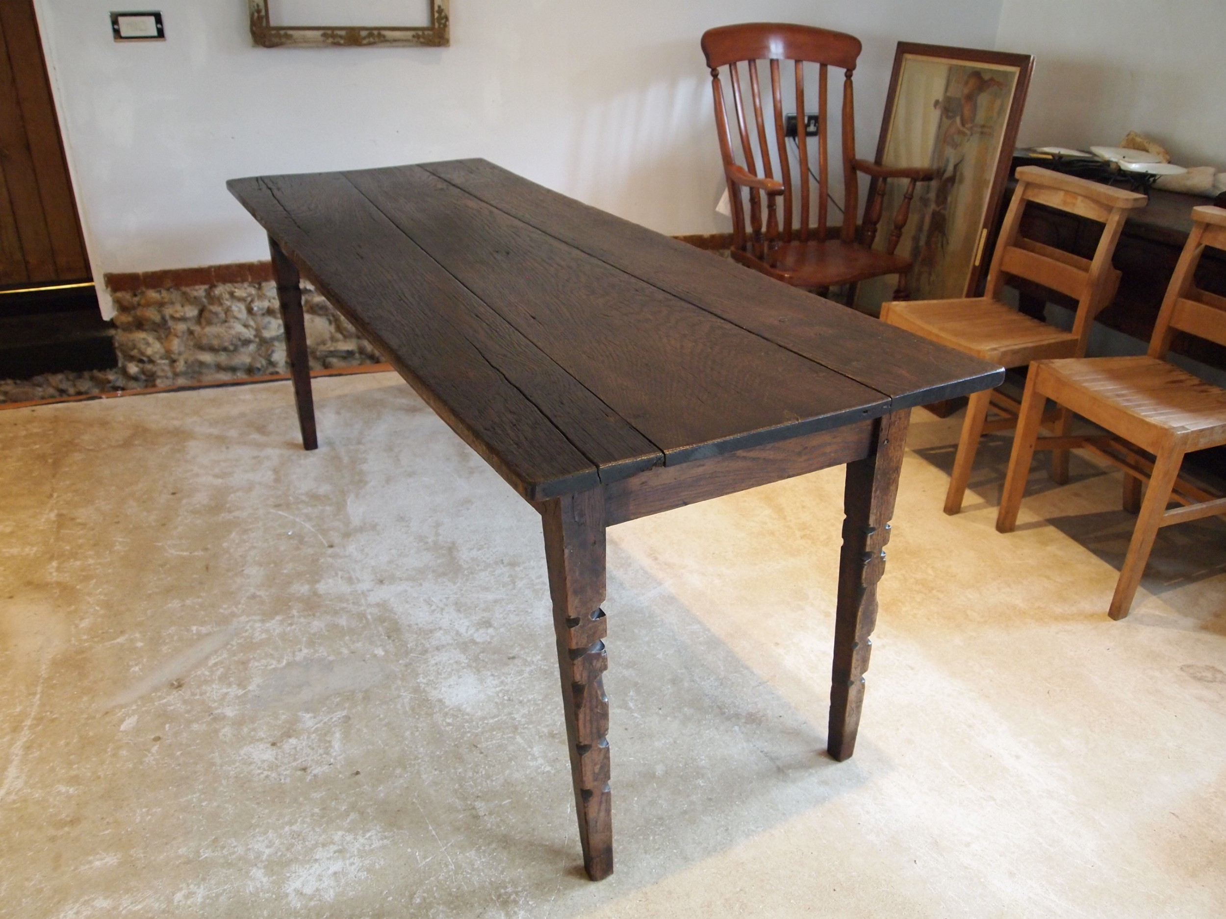 table refectory dining oak george iii c1780
