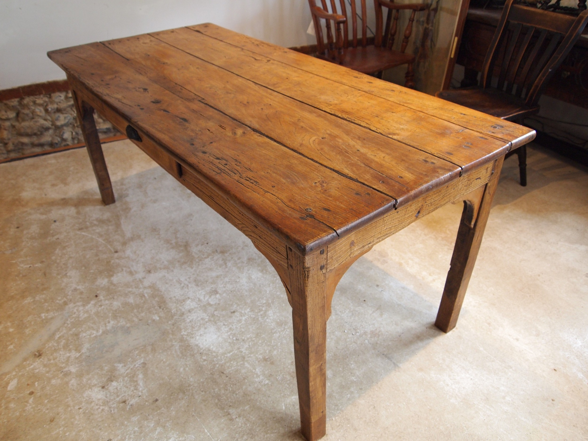 table rare solid elm refectory farmhouse dining george iii c1790