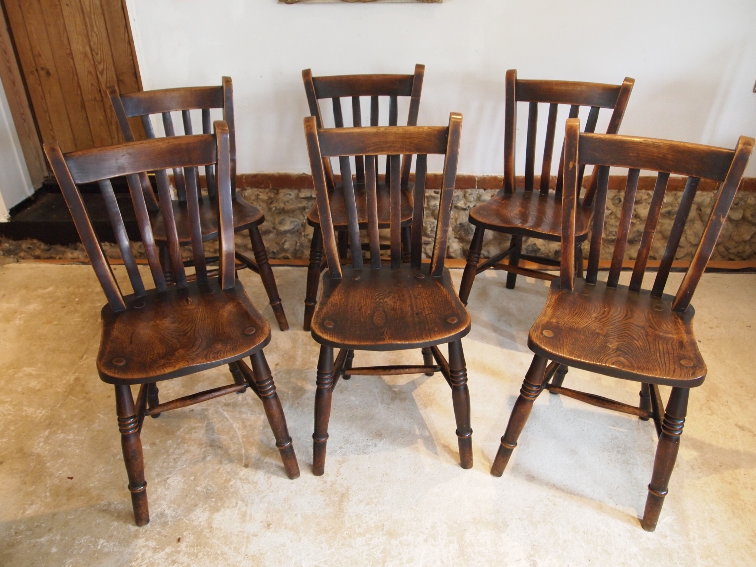 chairs stunning set of 6 windsor kitchen chairs dated 1915 goodearl and sons