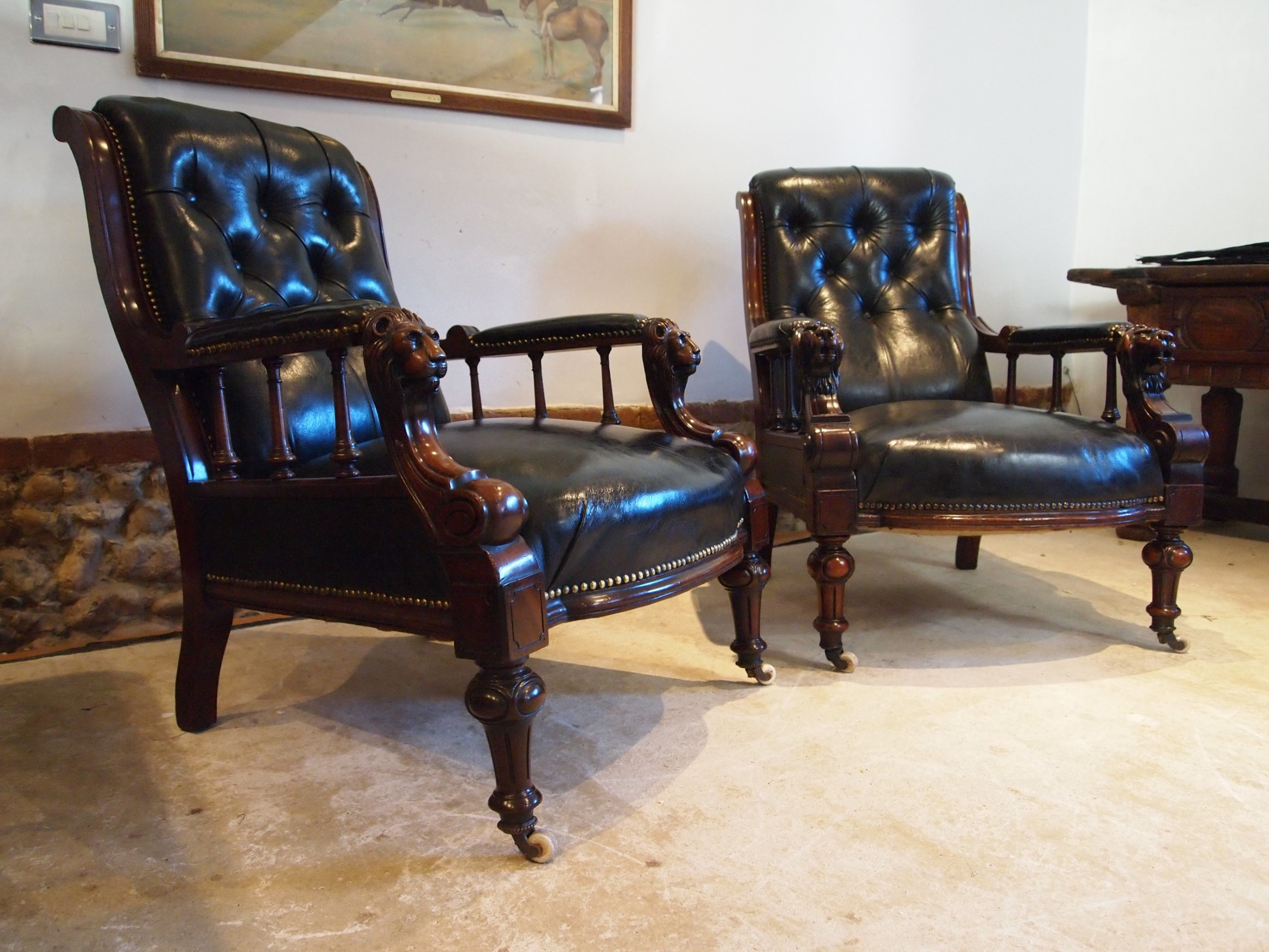 chairs fine rare stunning pair of victorian library armchairs c1870