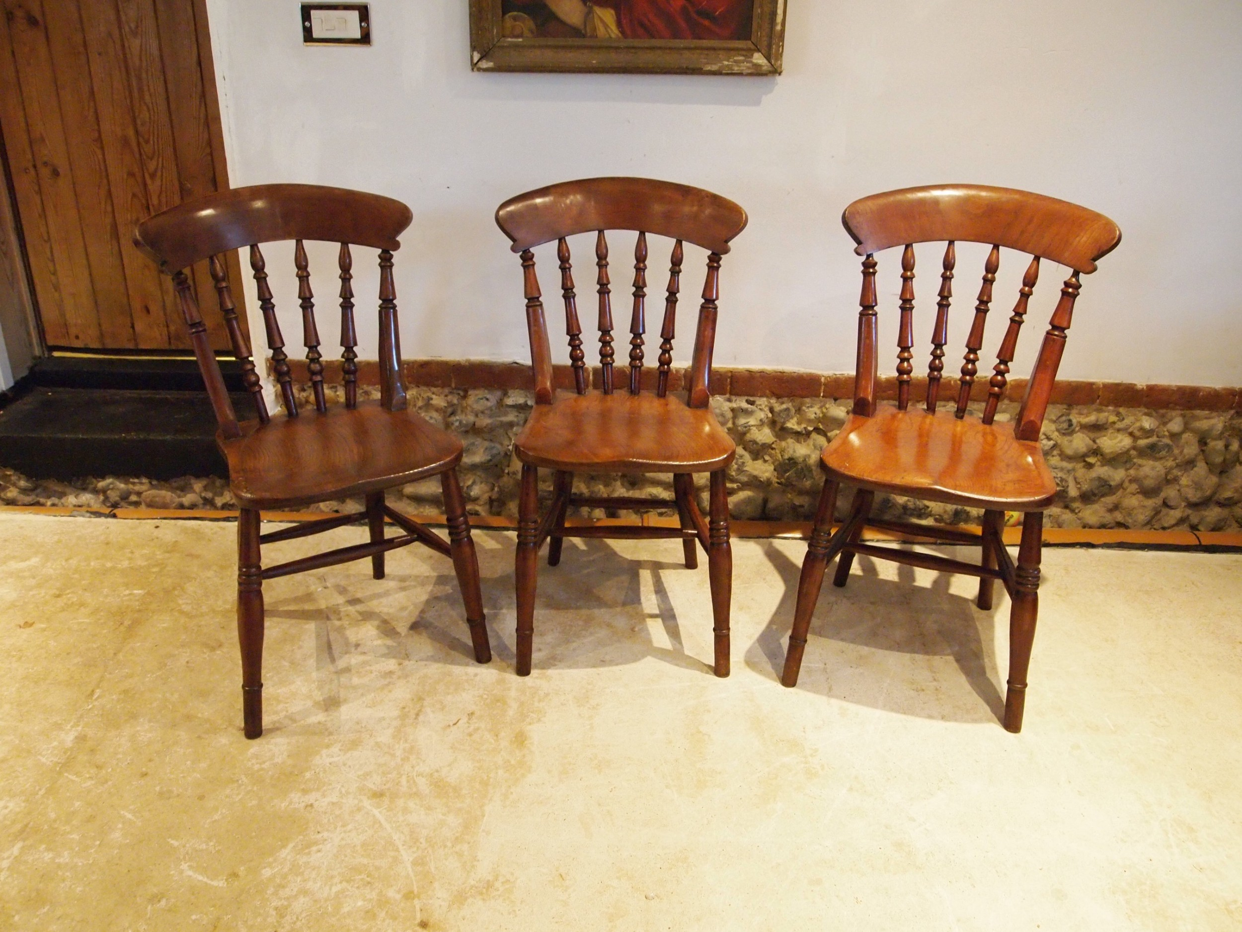 chairs set of 3 victorian windsor kitchen chairs c1870