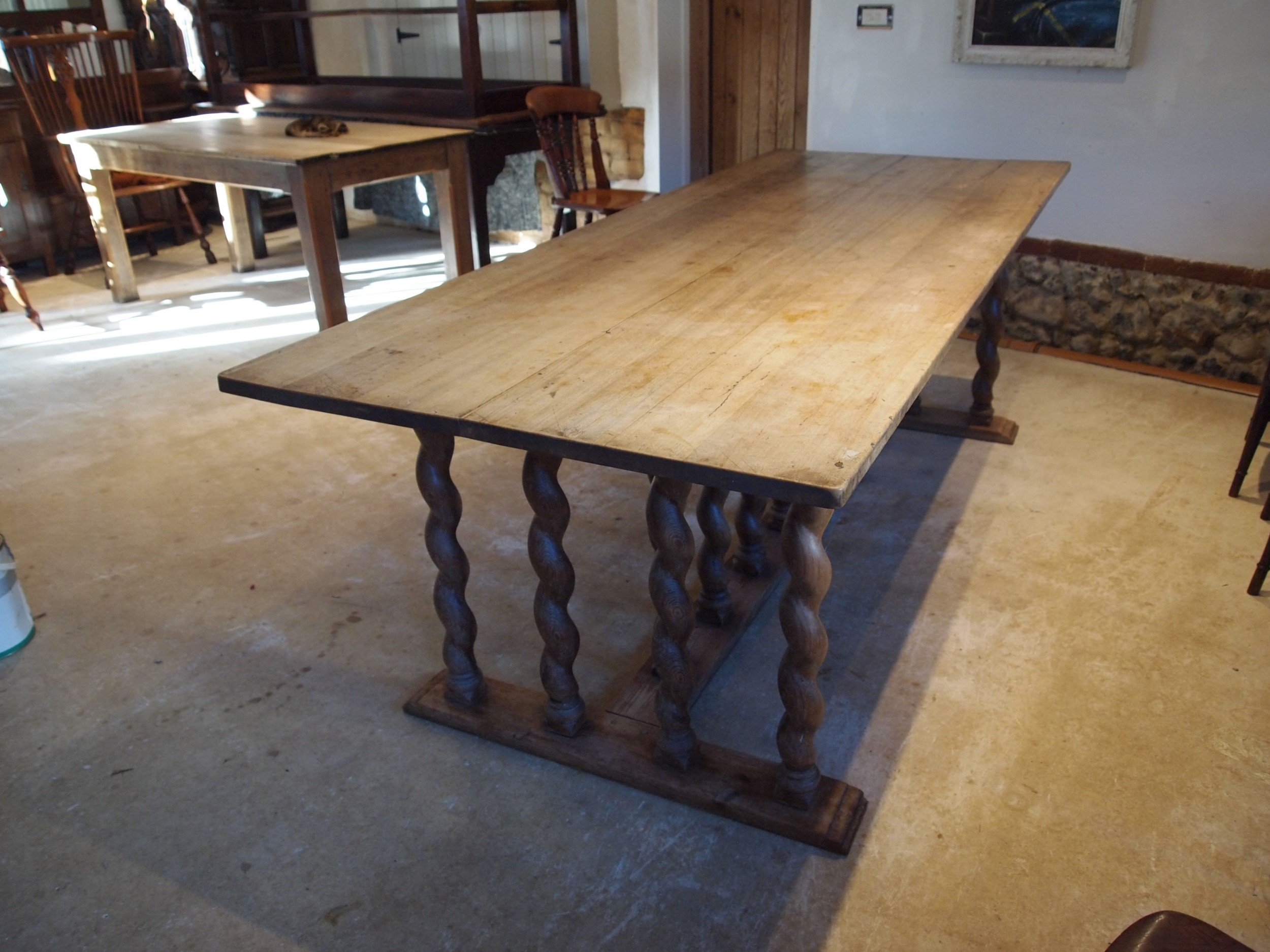 table french walnut refectory dining farmhouse c1900