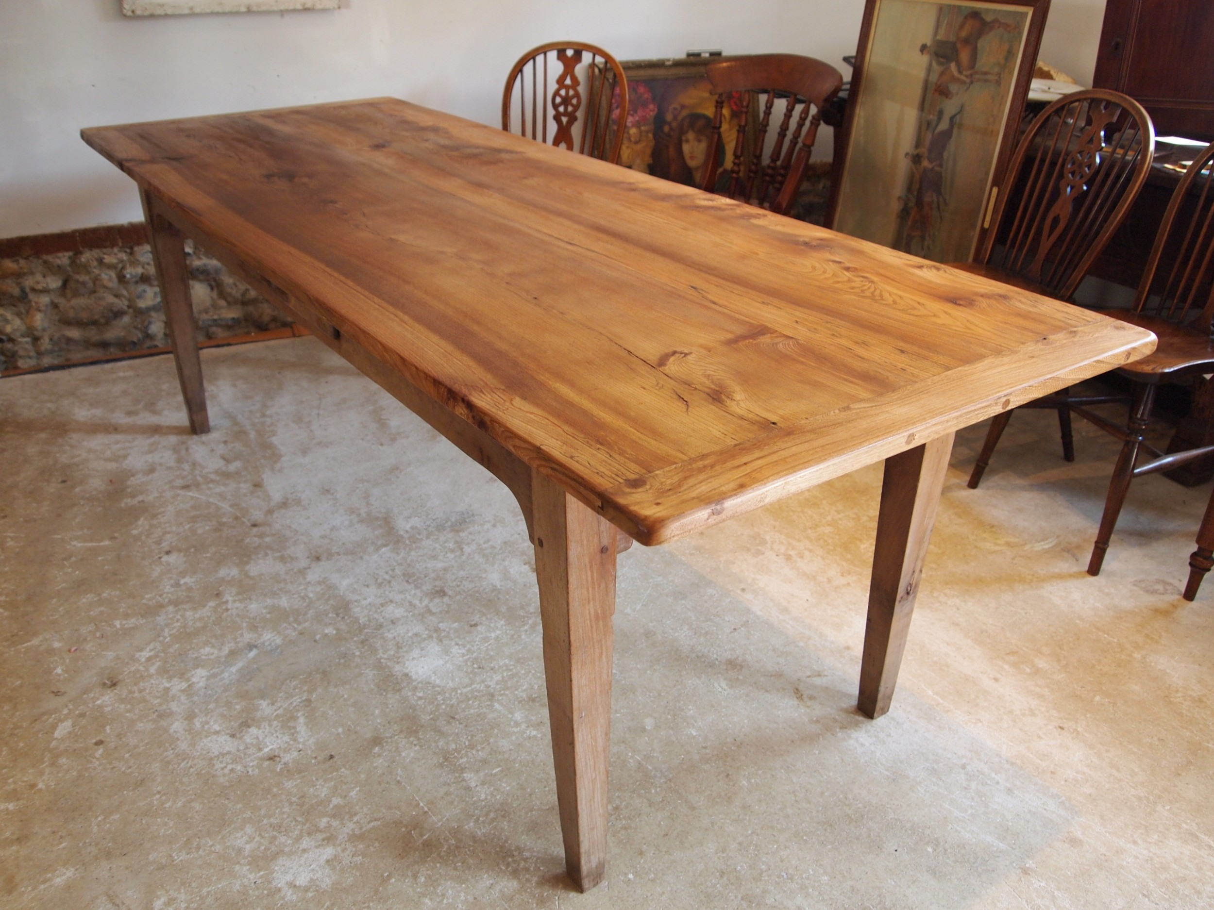 table refectory farmhouse french elm dining c1870