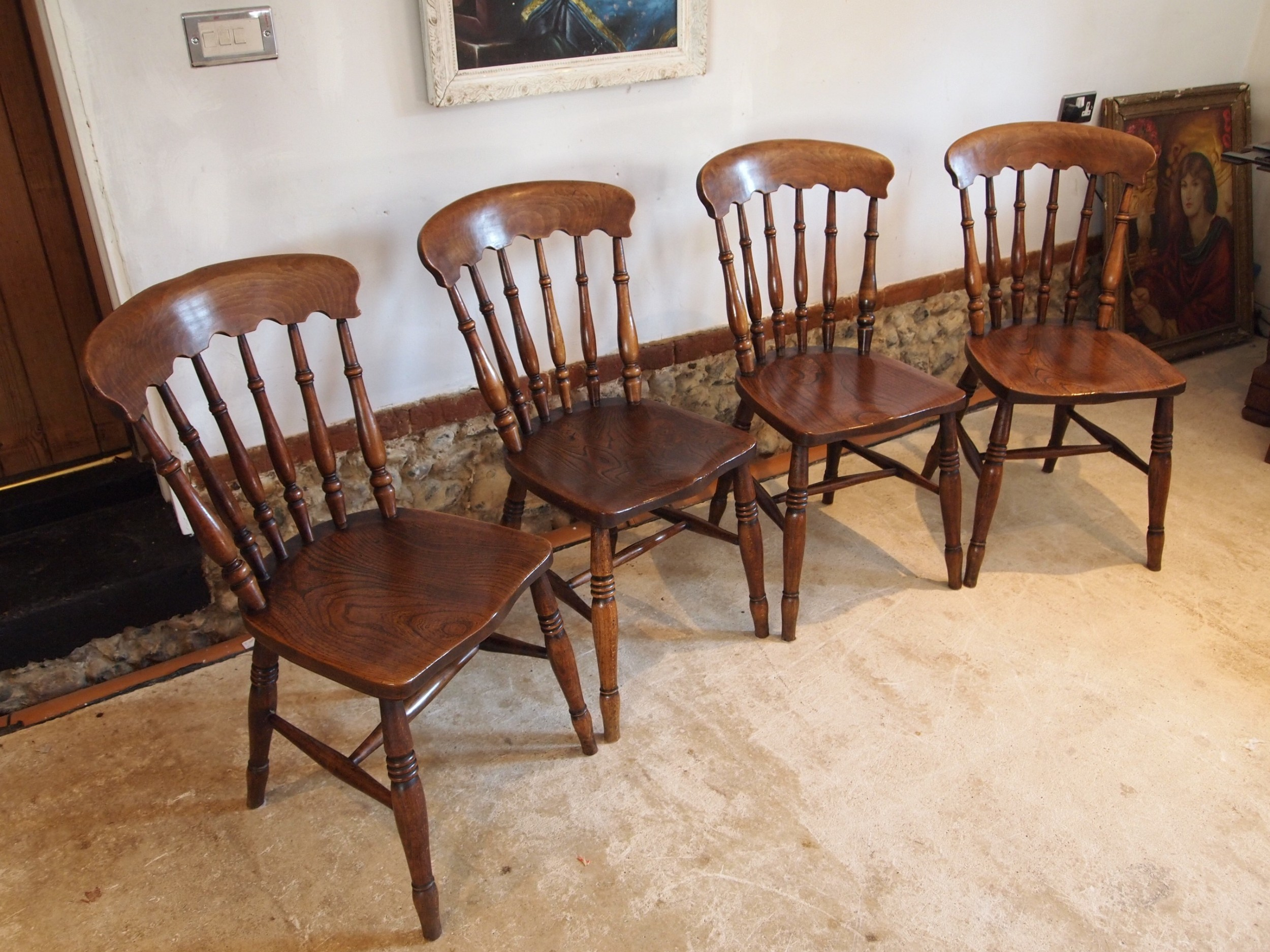 chairs set of 4 stunning windsor victorian kitchen chairs c1870