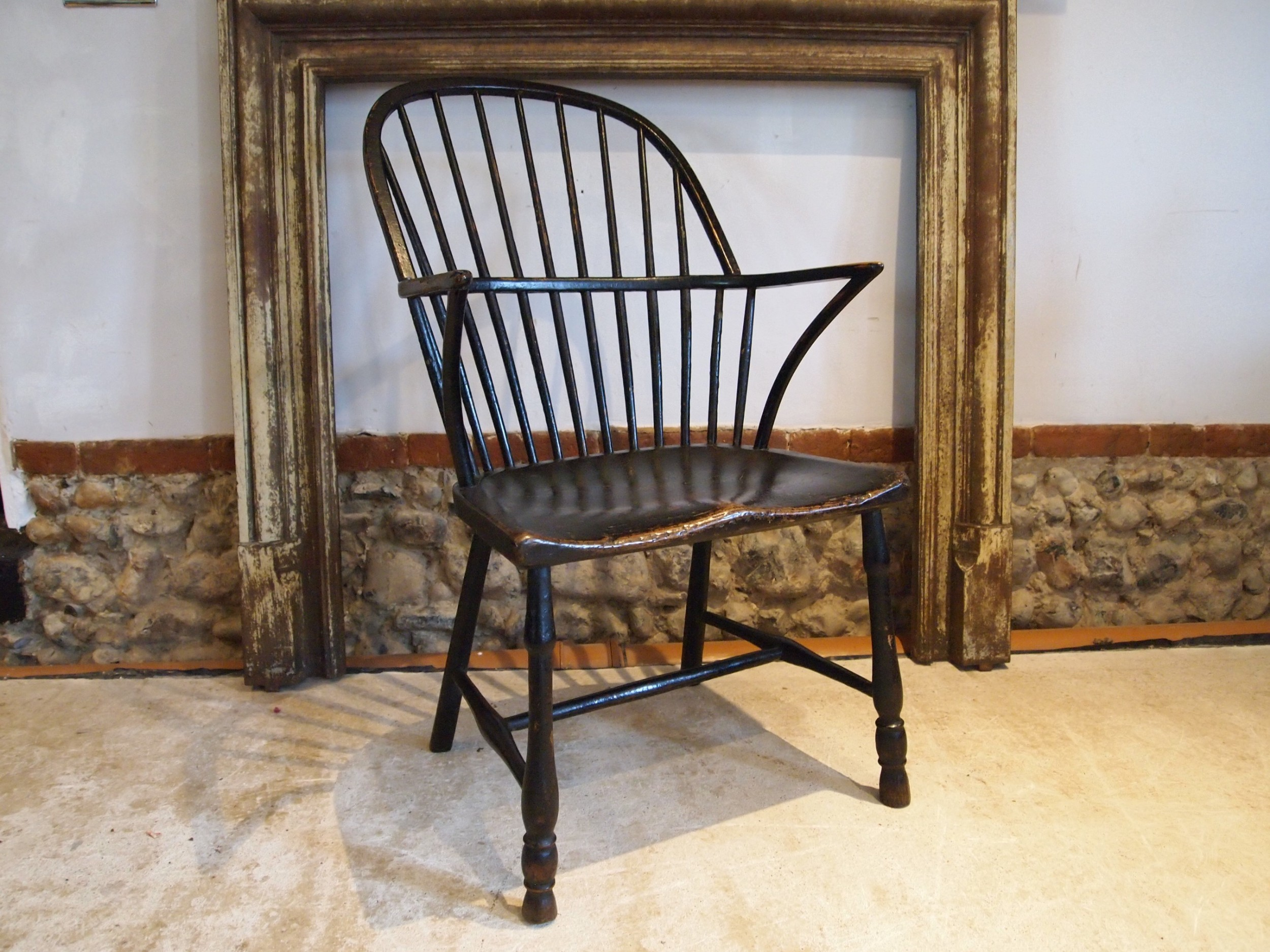chair rare 18th century windsor primitive original paint c1790