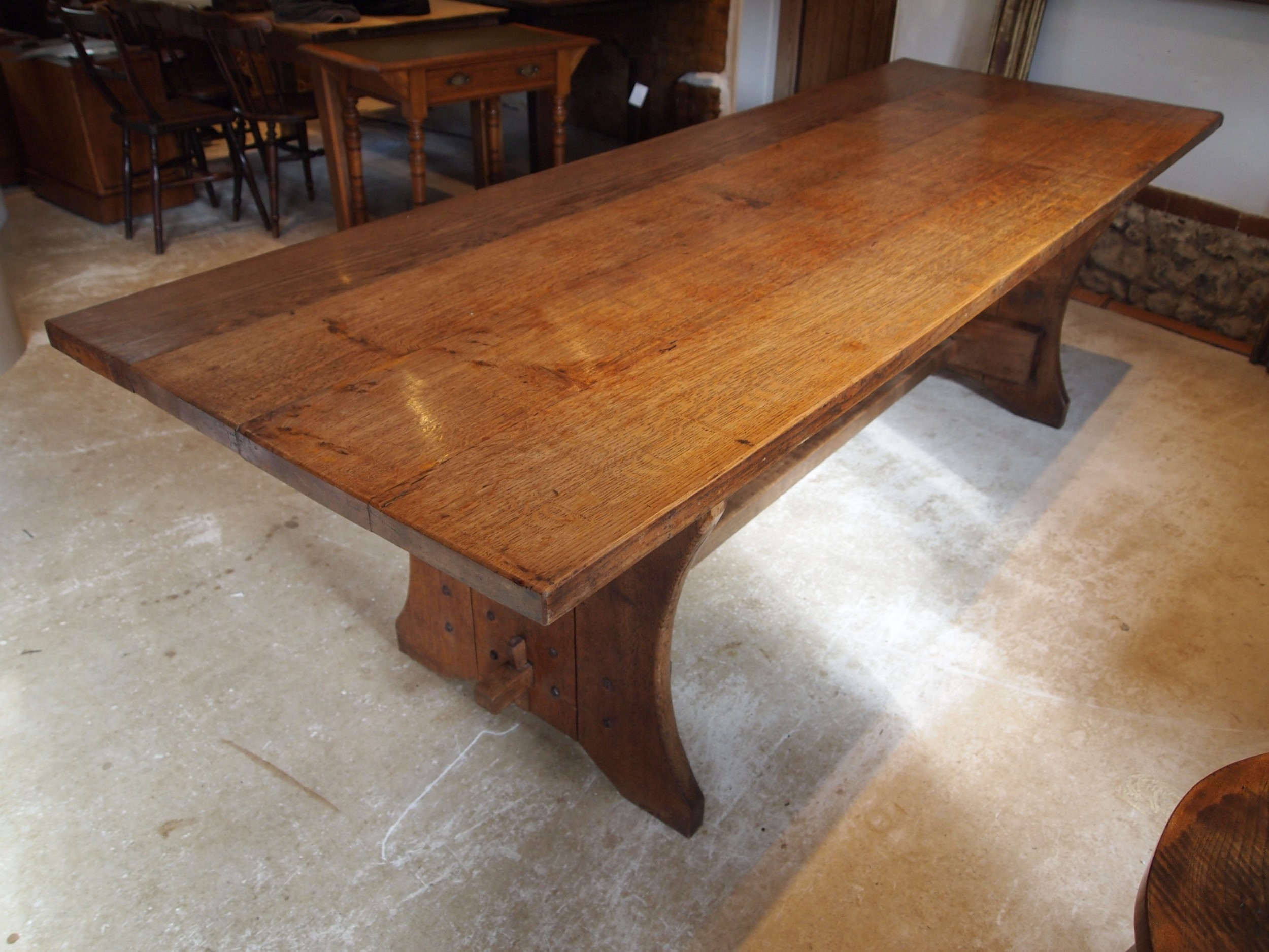 table stunning arts and crafts oak refectory farmhouse dining c1900