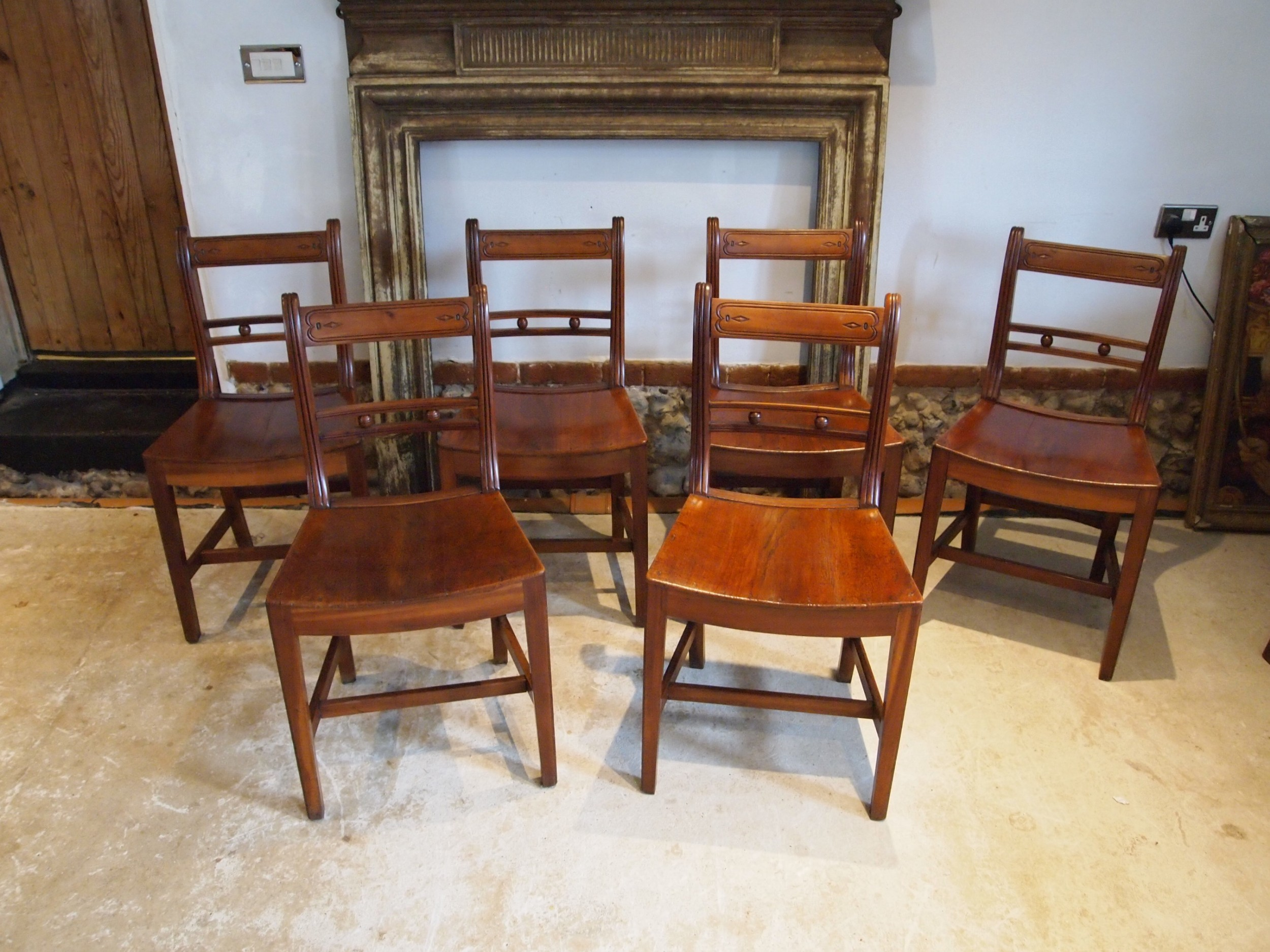 chairs set of 6 stunning suffolk ball back cherry and elm c1830