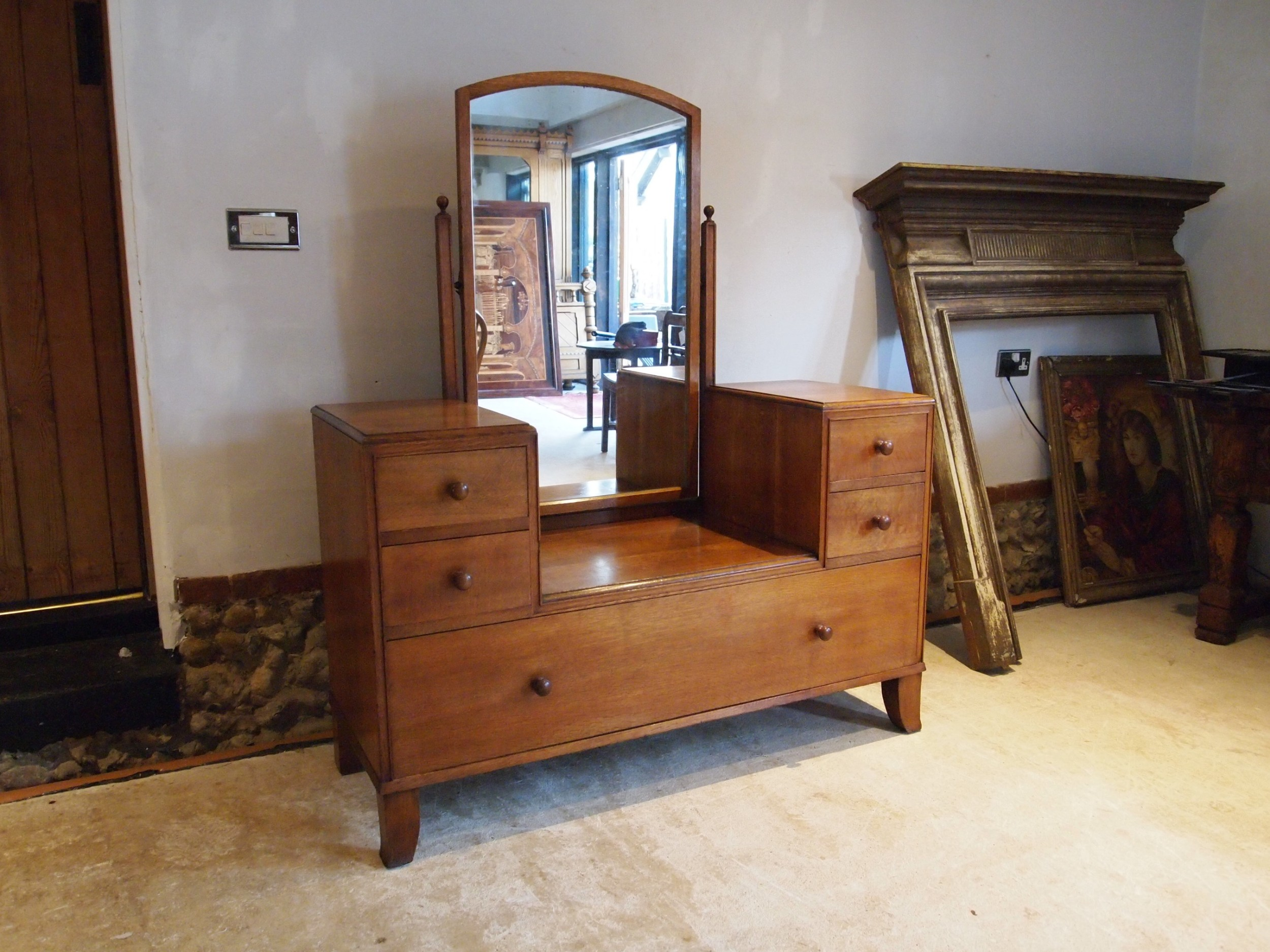 dressing table with drawers heals oak cotswold school c1930