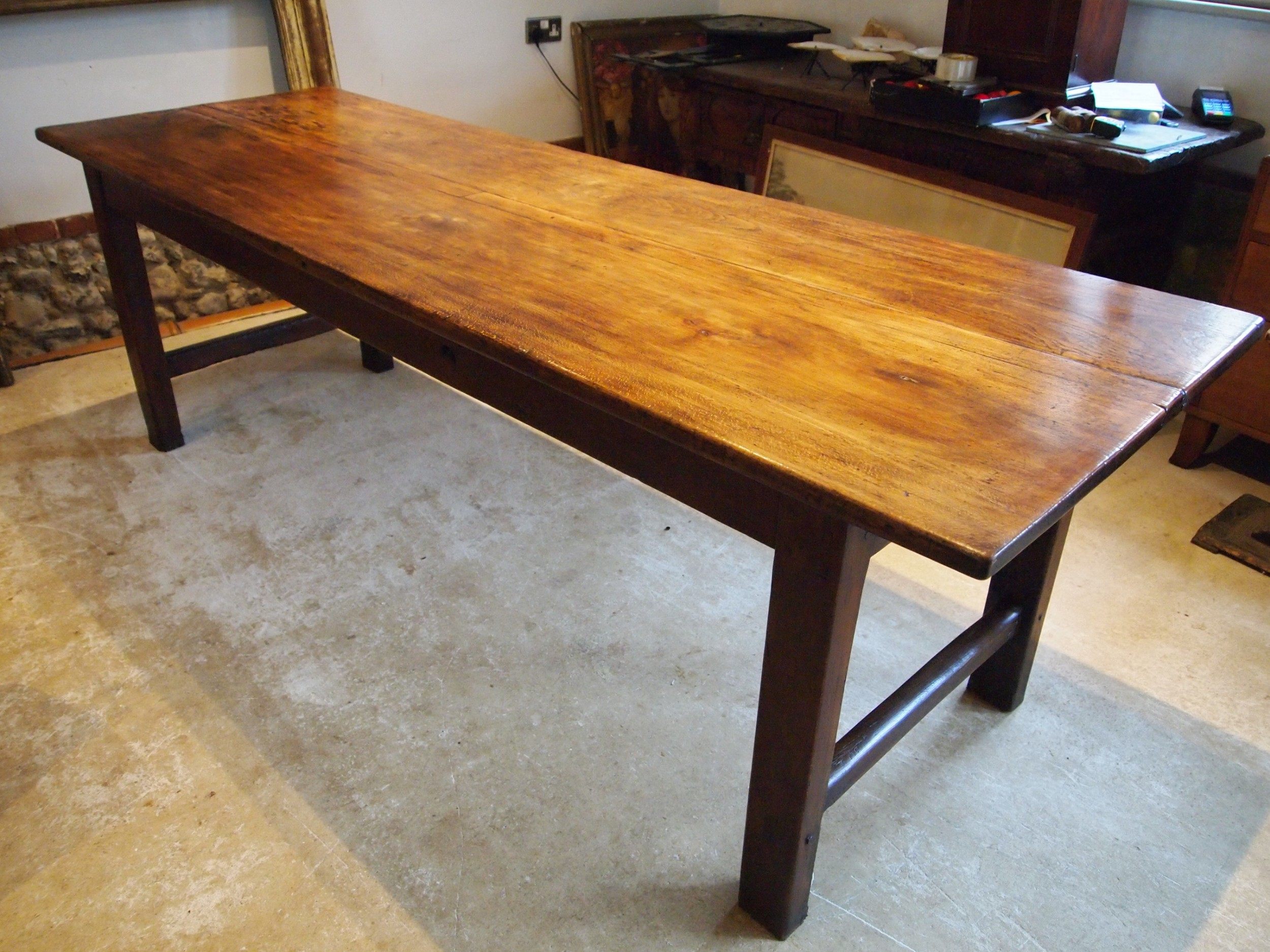 table stunning french george iii period beech refectory farmhouse c1800