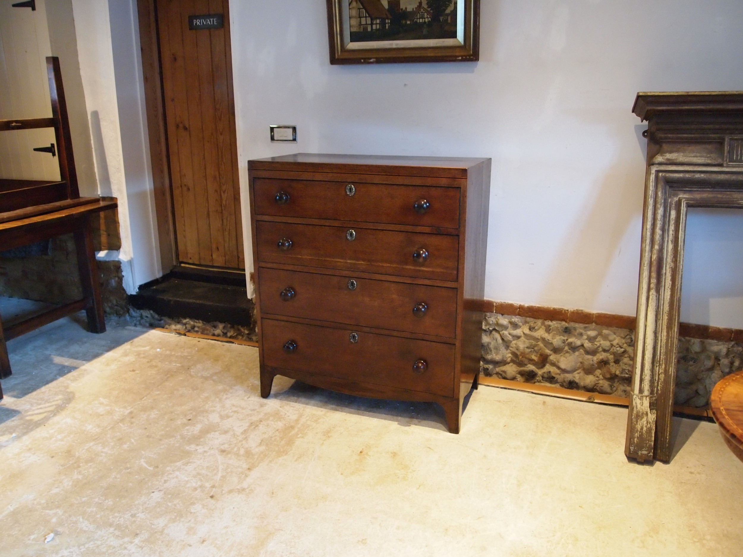 chest of drawers rare caddy top suffolk oak george iii c1800