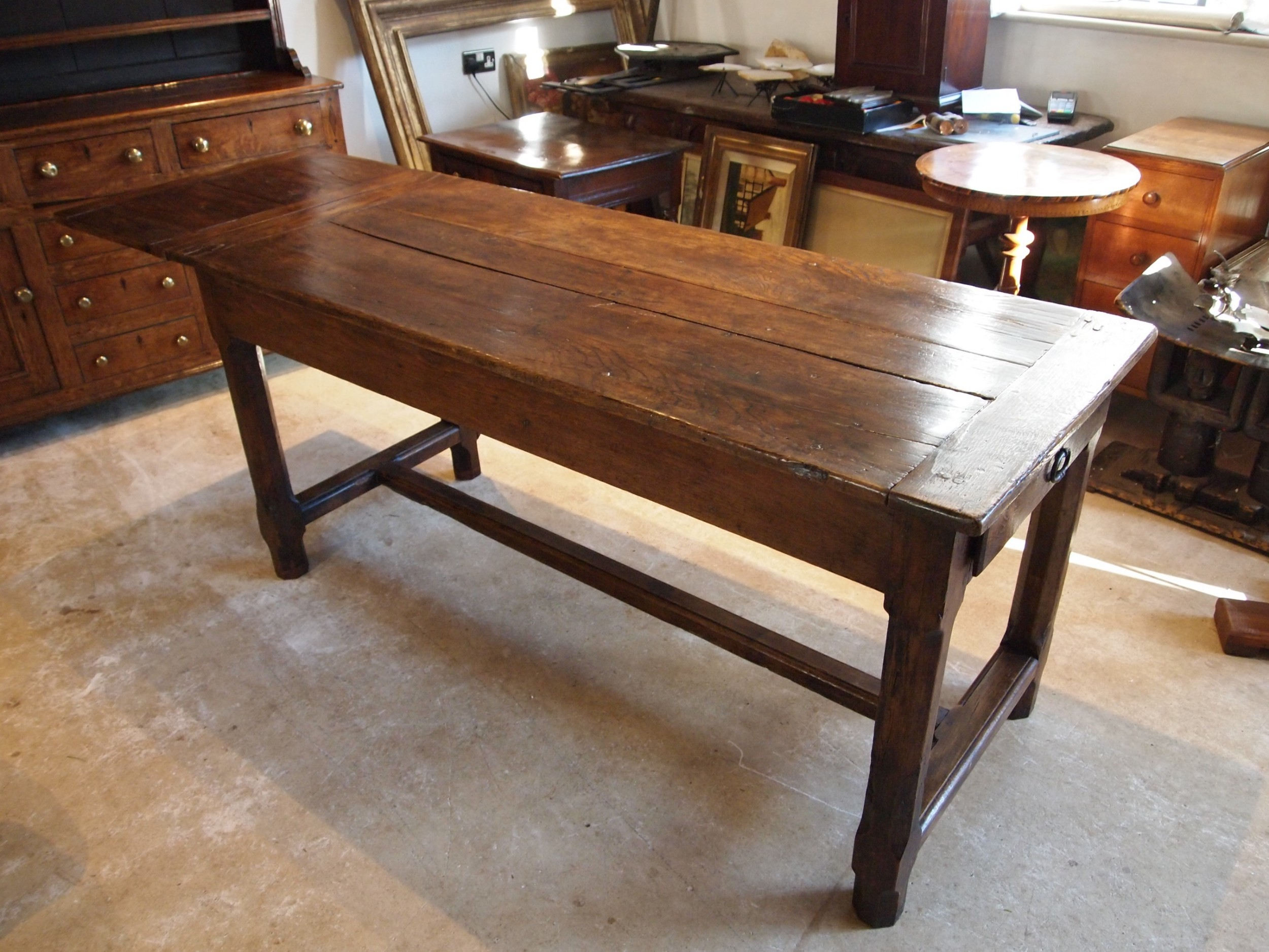 table refectory dining farmhouse french oak with extension c1820