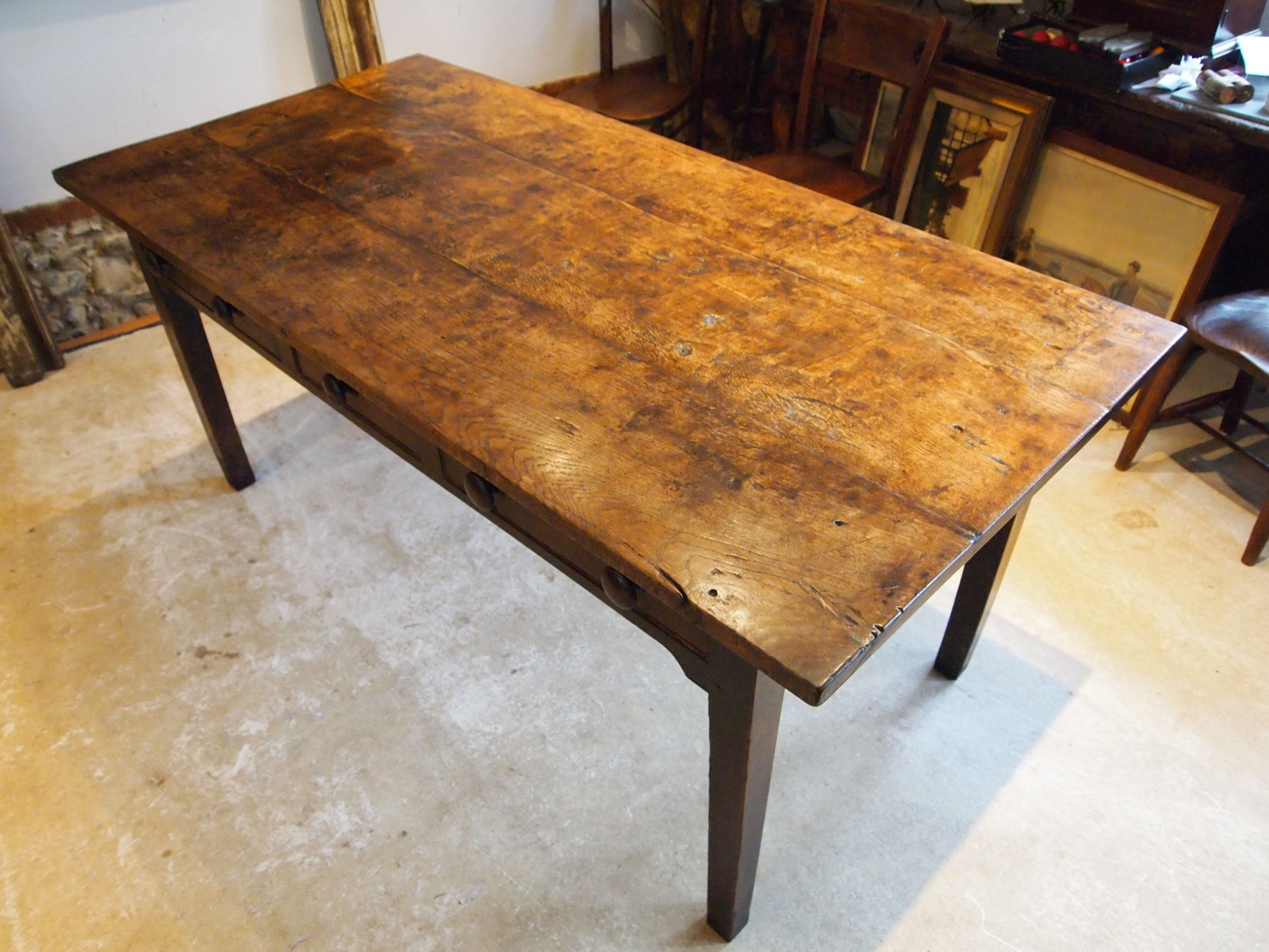 table outstanding rare english oak refectory dining george iv c1820