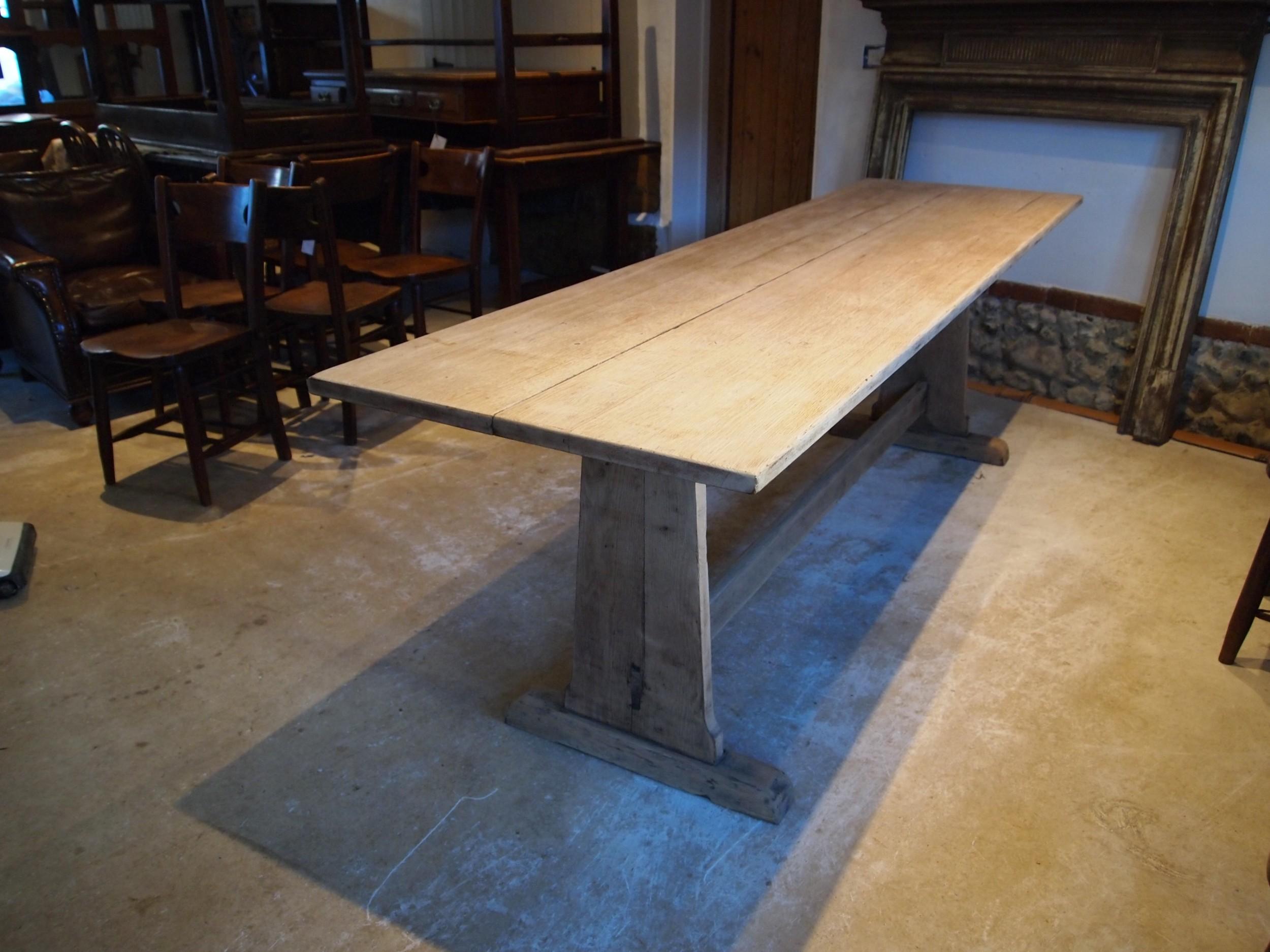 table refectory bramdean school oak dining edwardian c1900