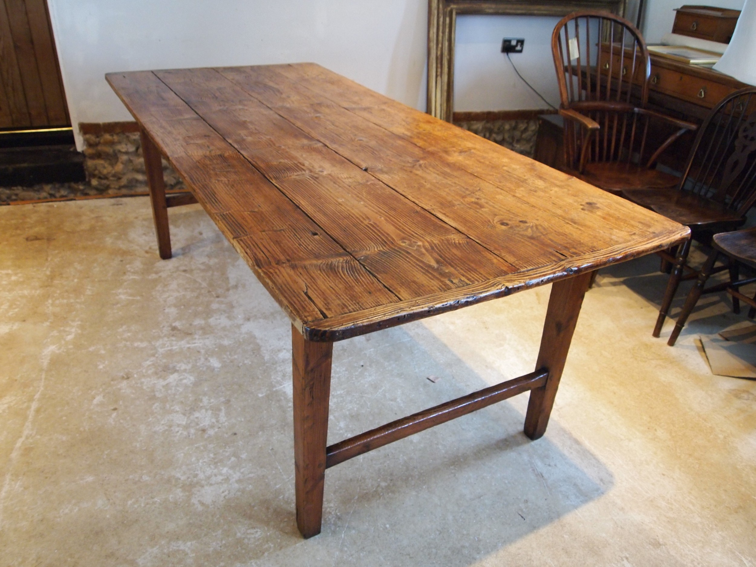 table refectory dining rare english george iii pine farmhouse c1780