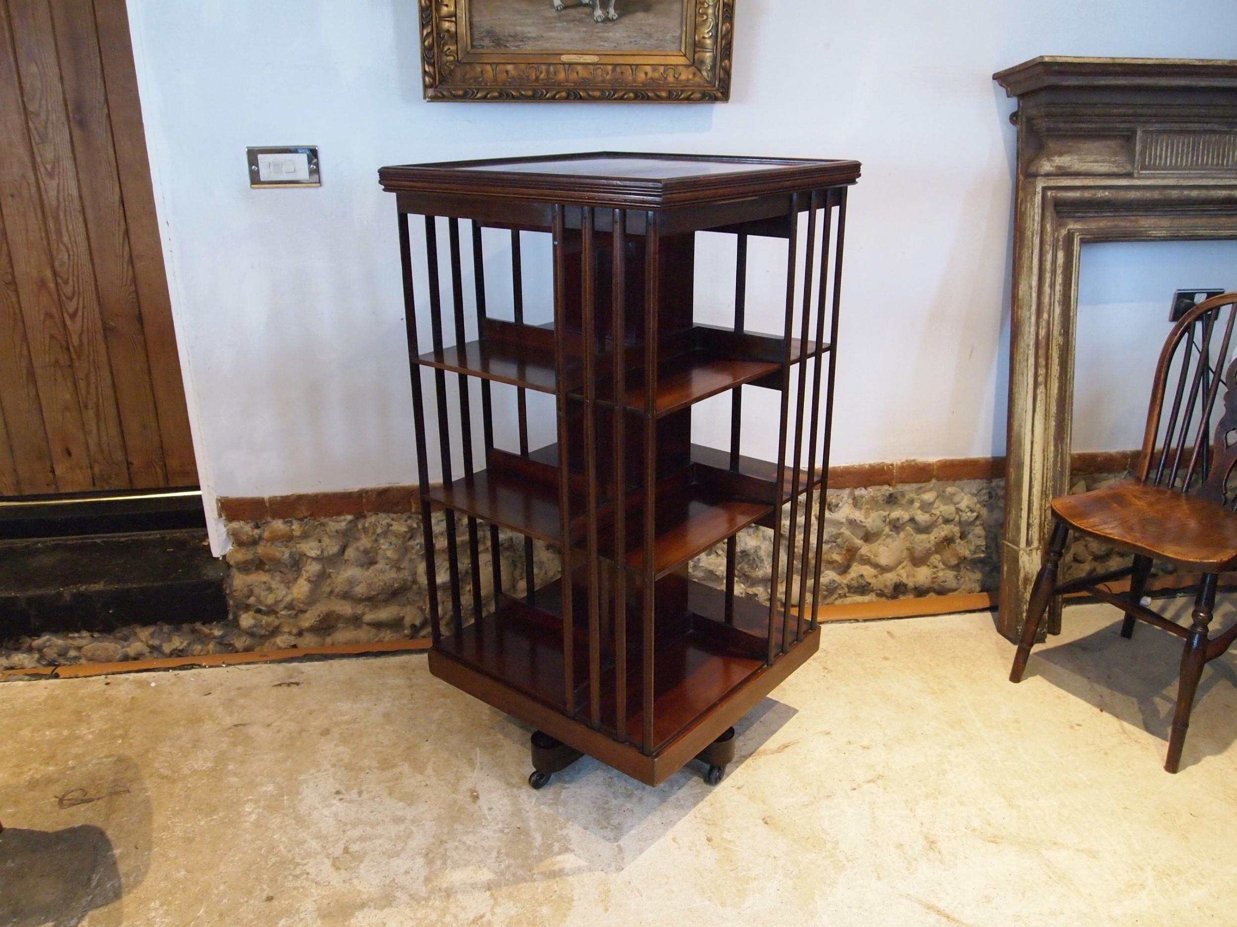 bookcase revolving fine quality james shoolbred victorian c1880