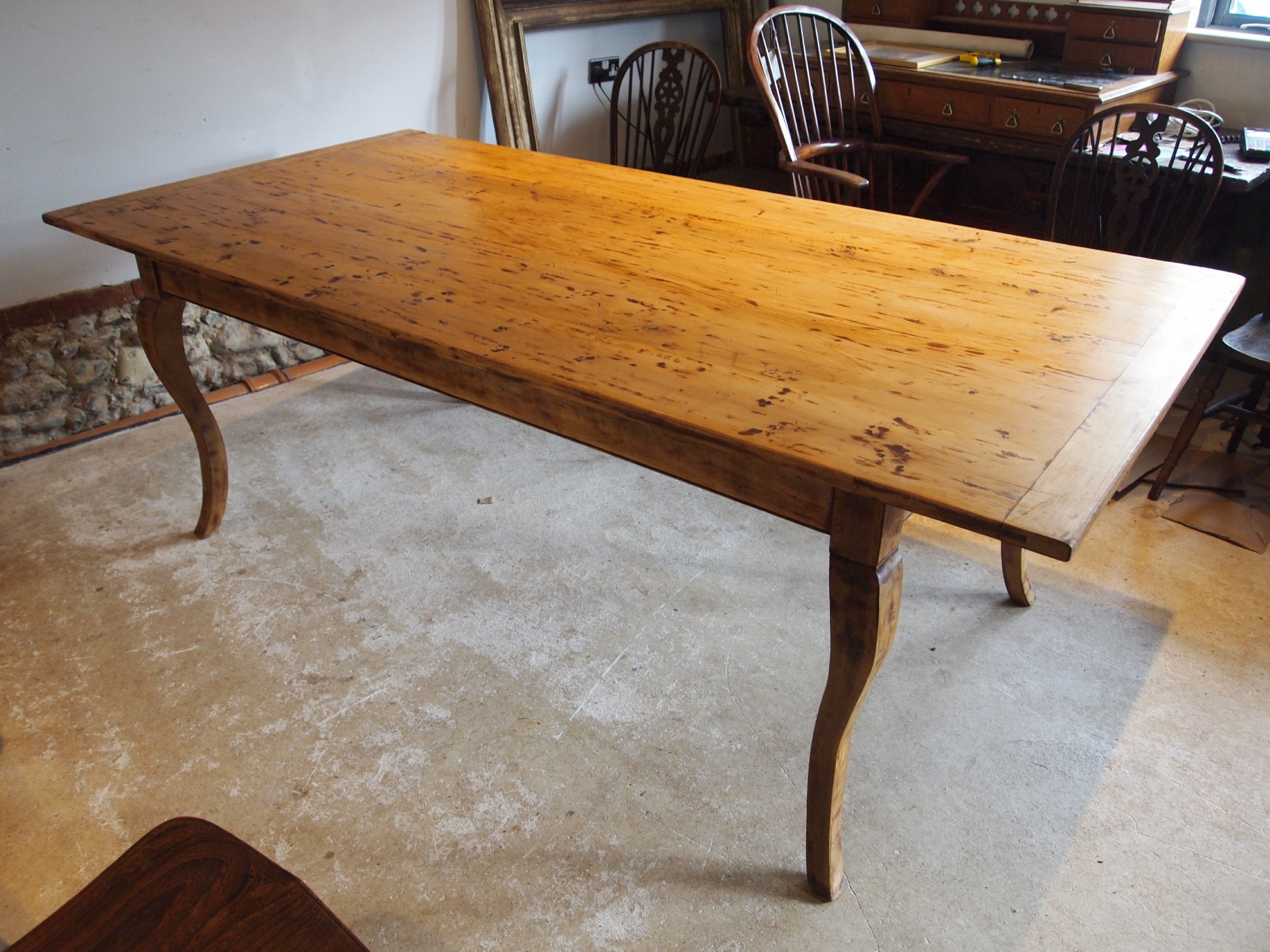 table refectory dining french fruitwood farmhouse c1930