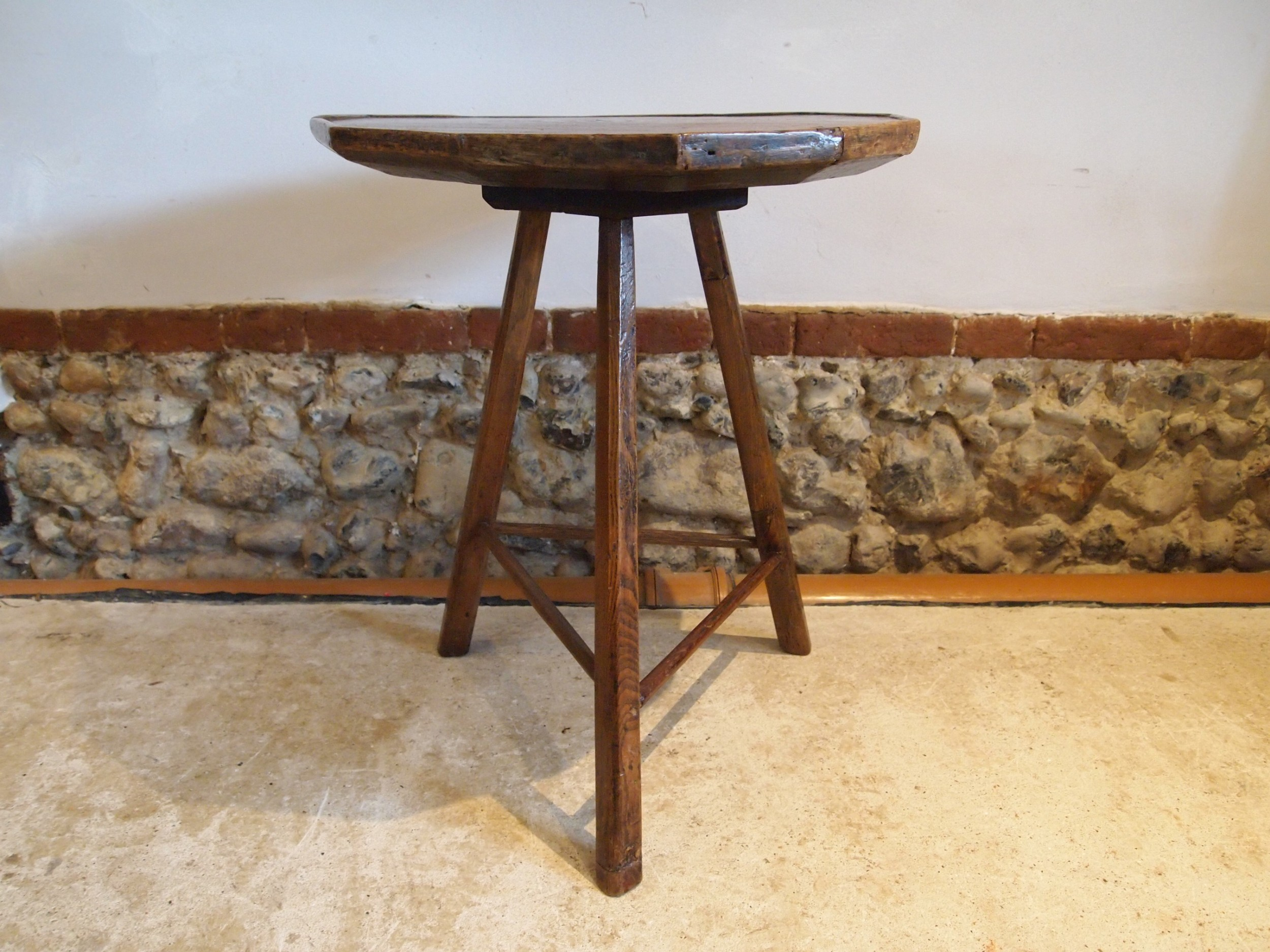 table cricket table primitive elm cheese top george iii 1800