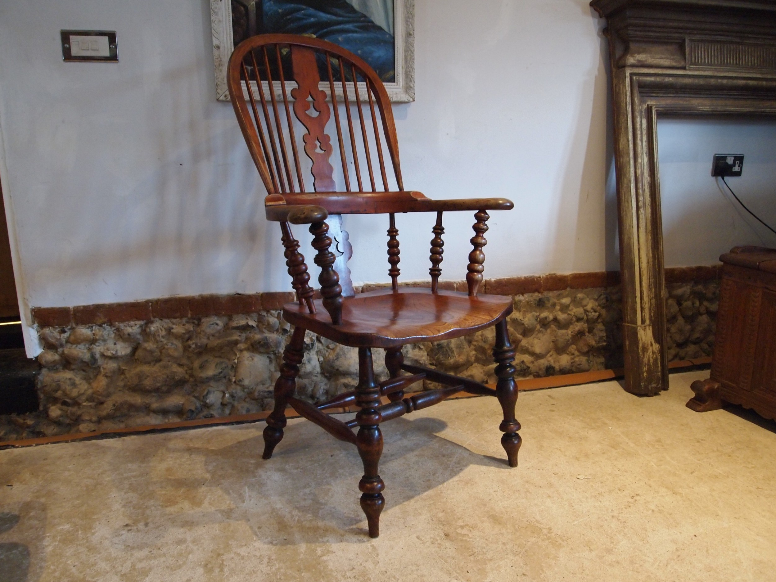 chair stunning victorian windsor grandfather chair c1860